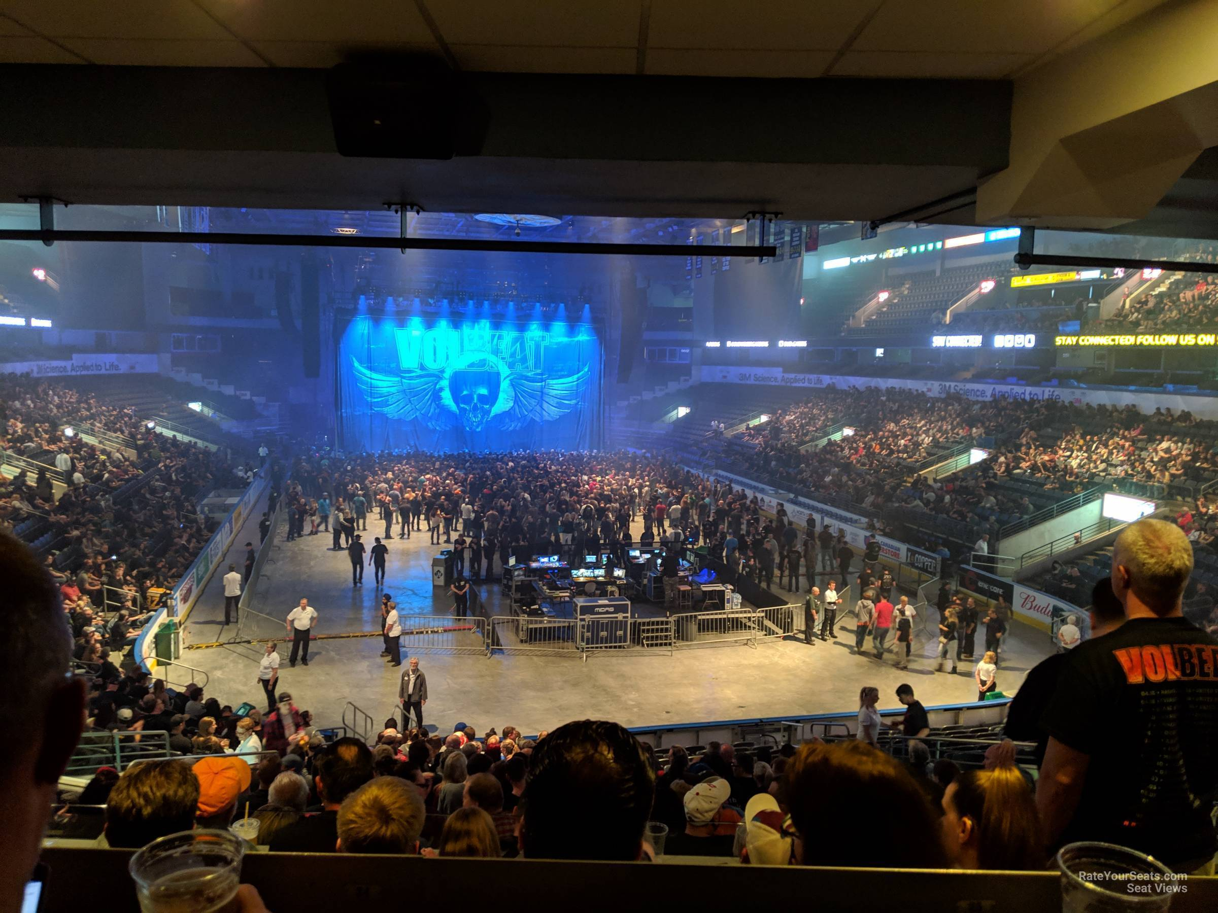 Concert Seat View for Budweiser Gardens Section 210