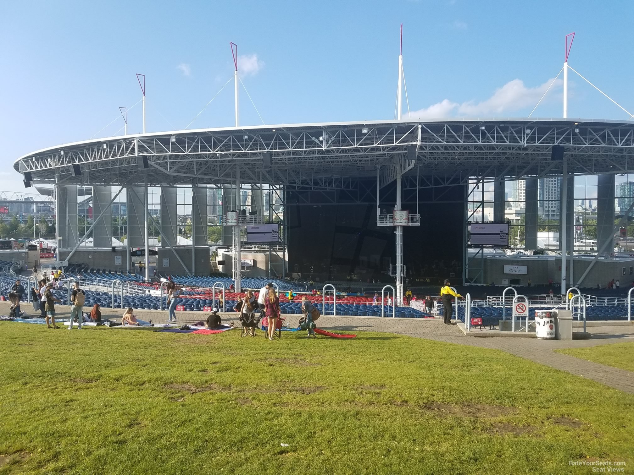 Budweiser Stage Lawn Rateyourseats Com