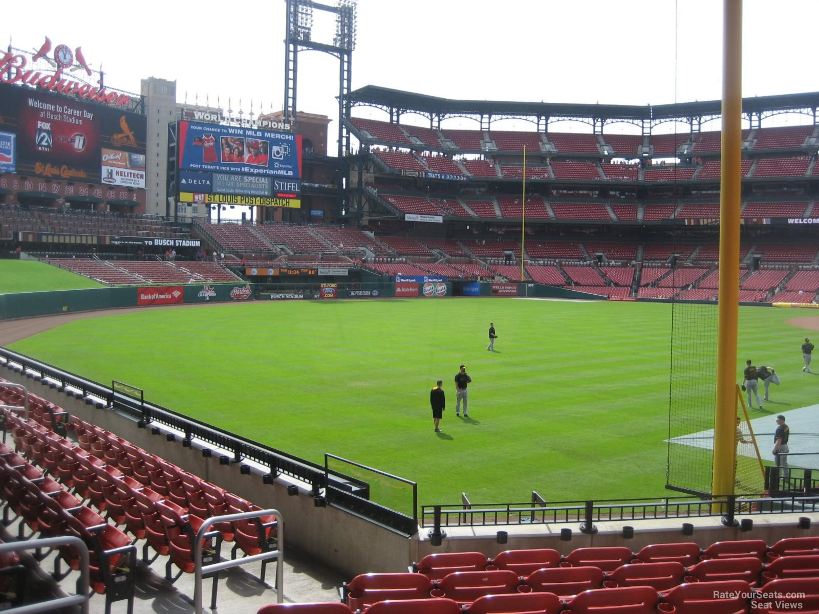 Field Level Outfield - Busch Stadium Baseball Seating ...
