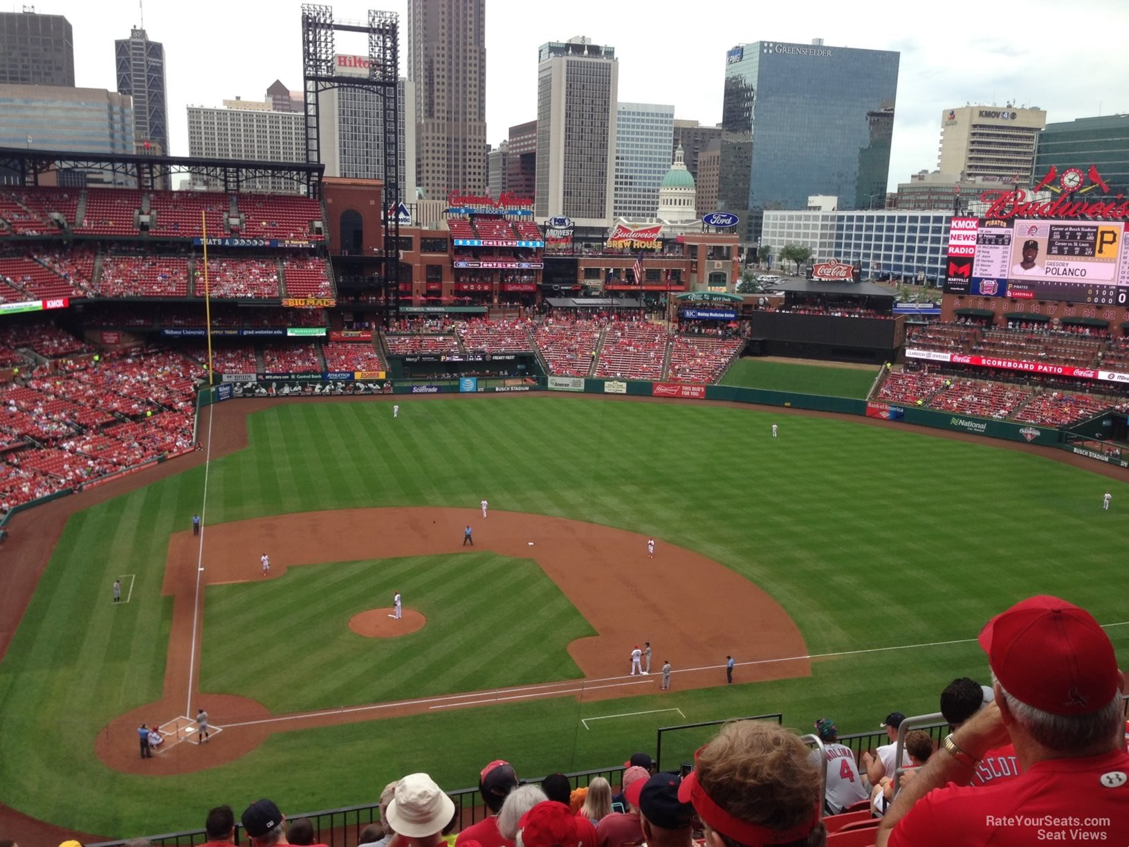 Busch Stadium Section 346 - RateYourSeats.com