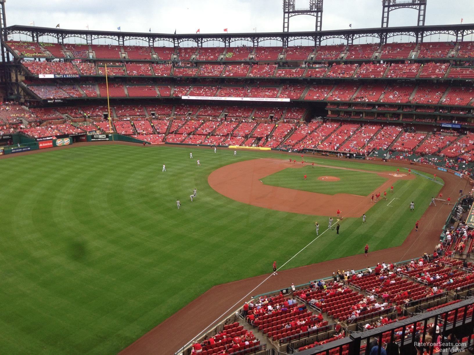 Seat View for Busch Stadium Section 368, Row 3