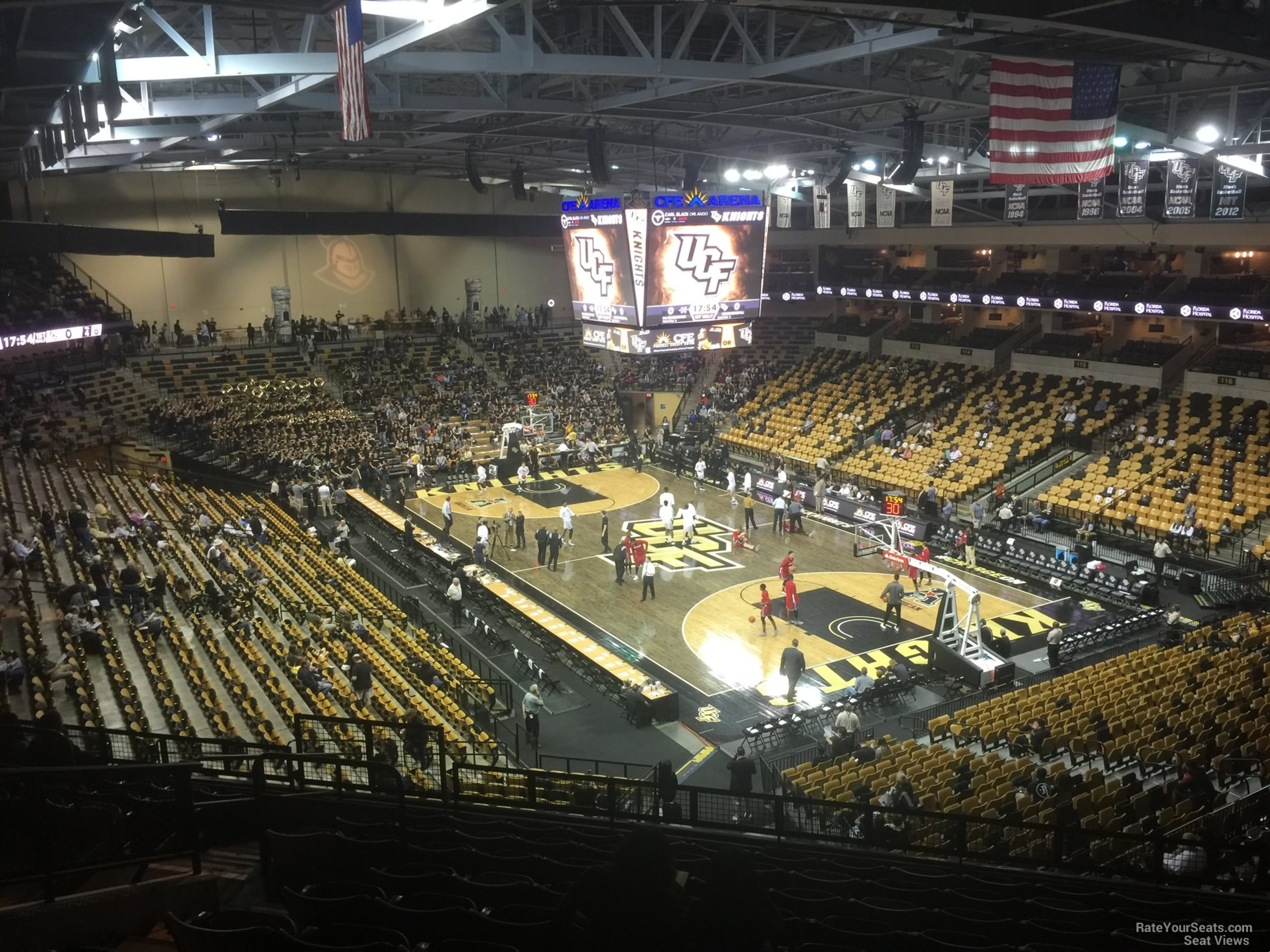 CFE: Ucf Arena Seating Chart Rows