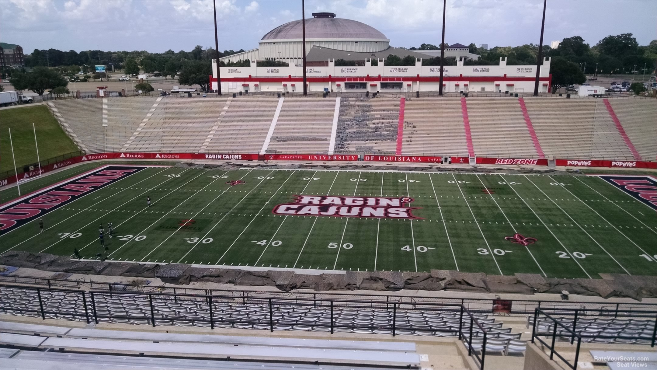 Seat View for Cajun Field Section DD, Row 20
