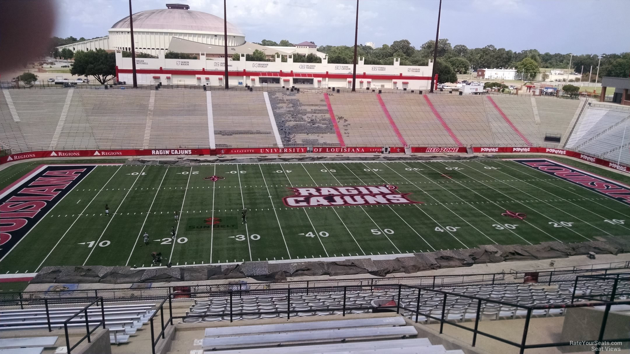 Seat View for Cajun Field Section EE, Row 20