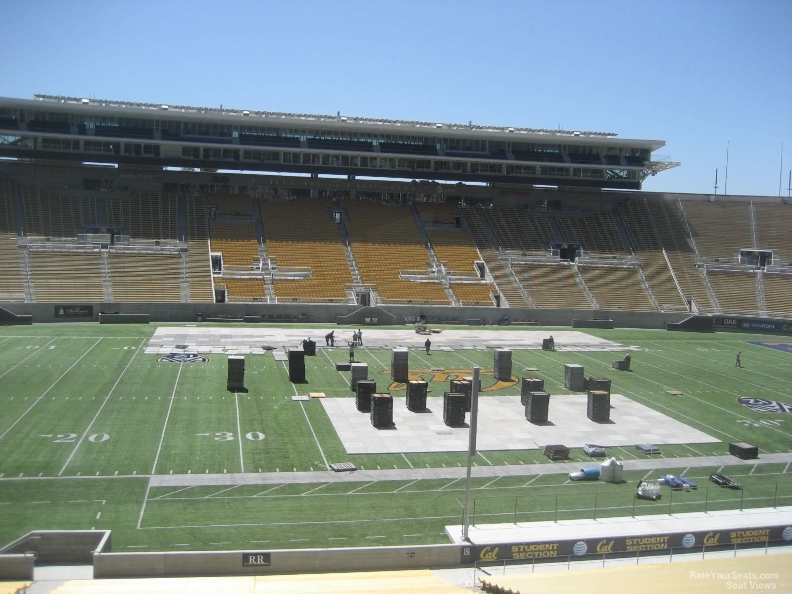 Staying out of the sun at Cal Memorial Stadium