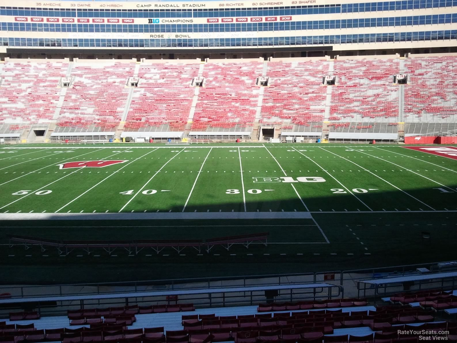 Seat View for Camp Randall Stadium Section D, Row 30