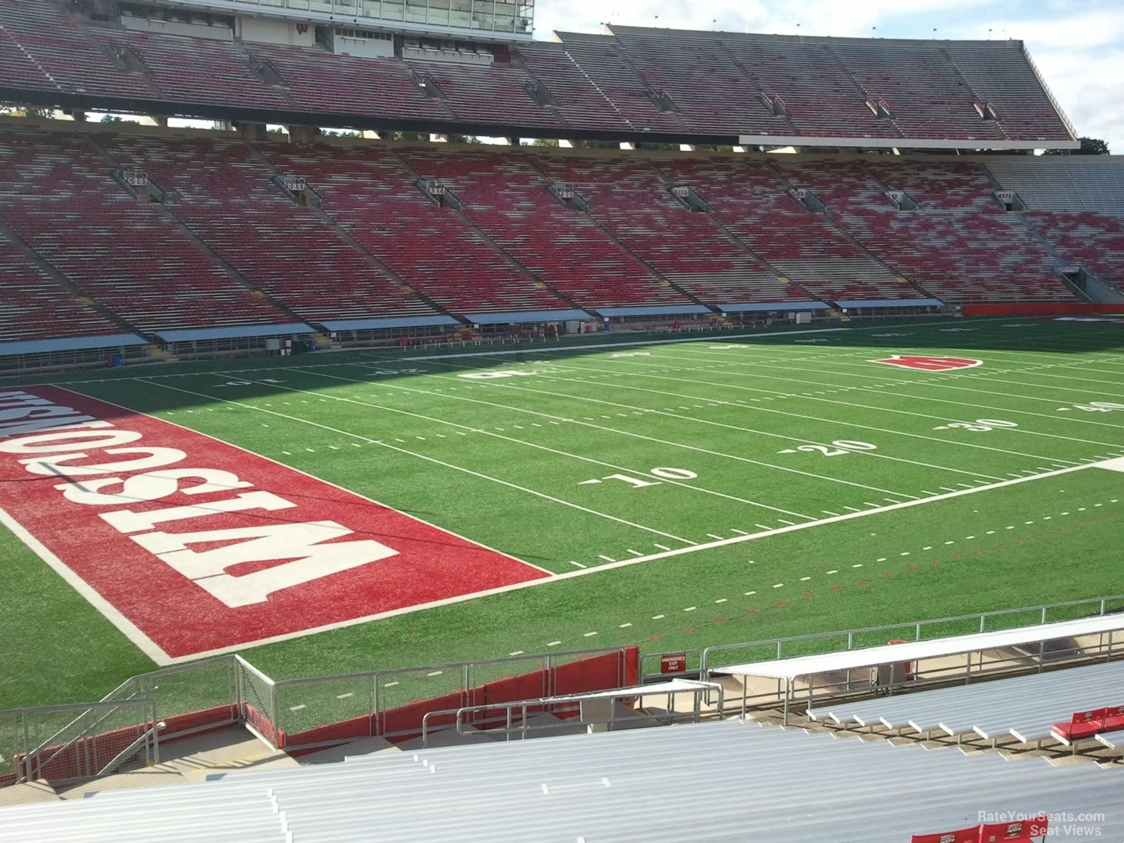 View from Section X Row 30 at Camp Randall Stadium