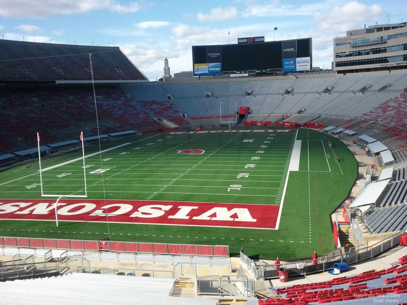 View from Section Y2 Row 52 at Camp Randall Stadium