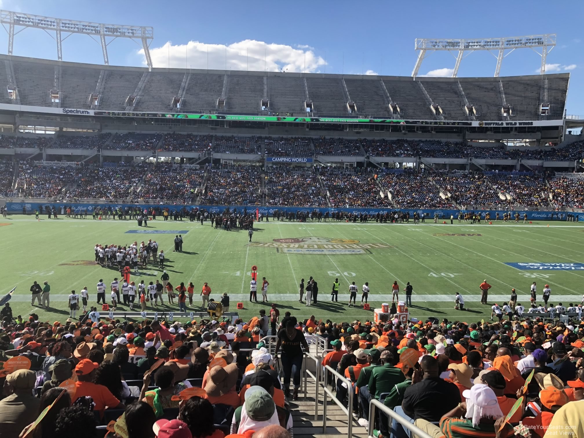 Seat View for Camping World Stadium Section 109, Row EE