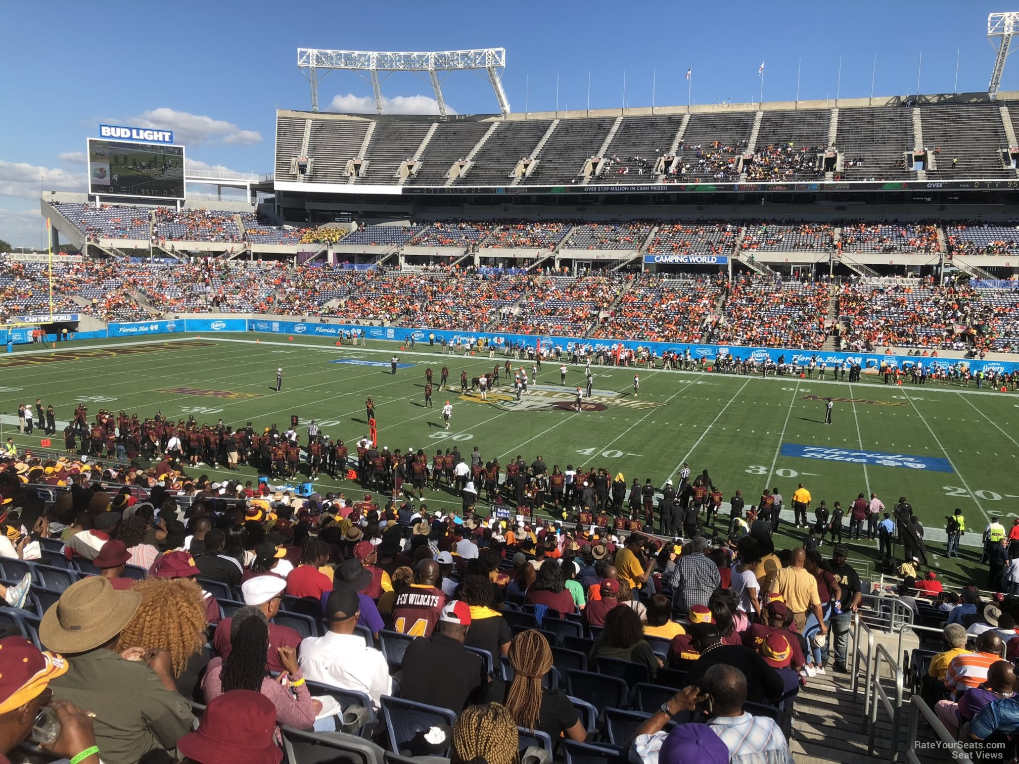 Seat View for Camping World Stadium Section 133, Row EE