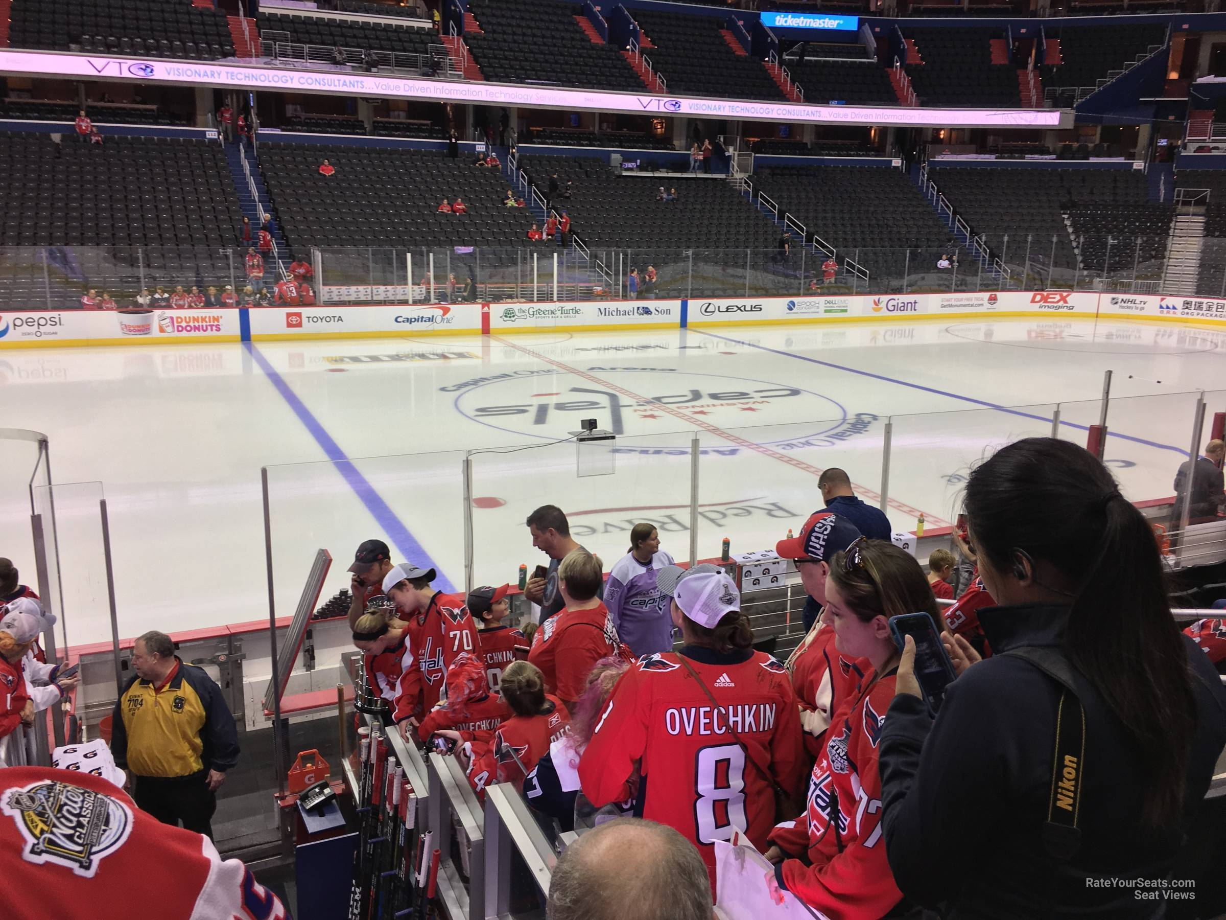 Washington Capitals Seat View for Capital One Arena Section 121, Row L