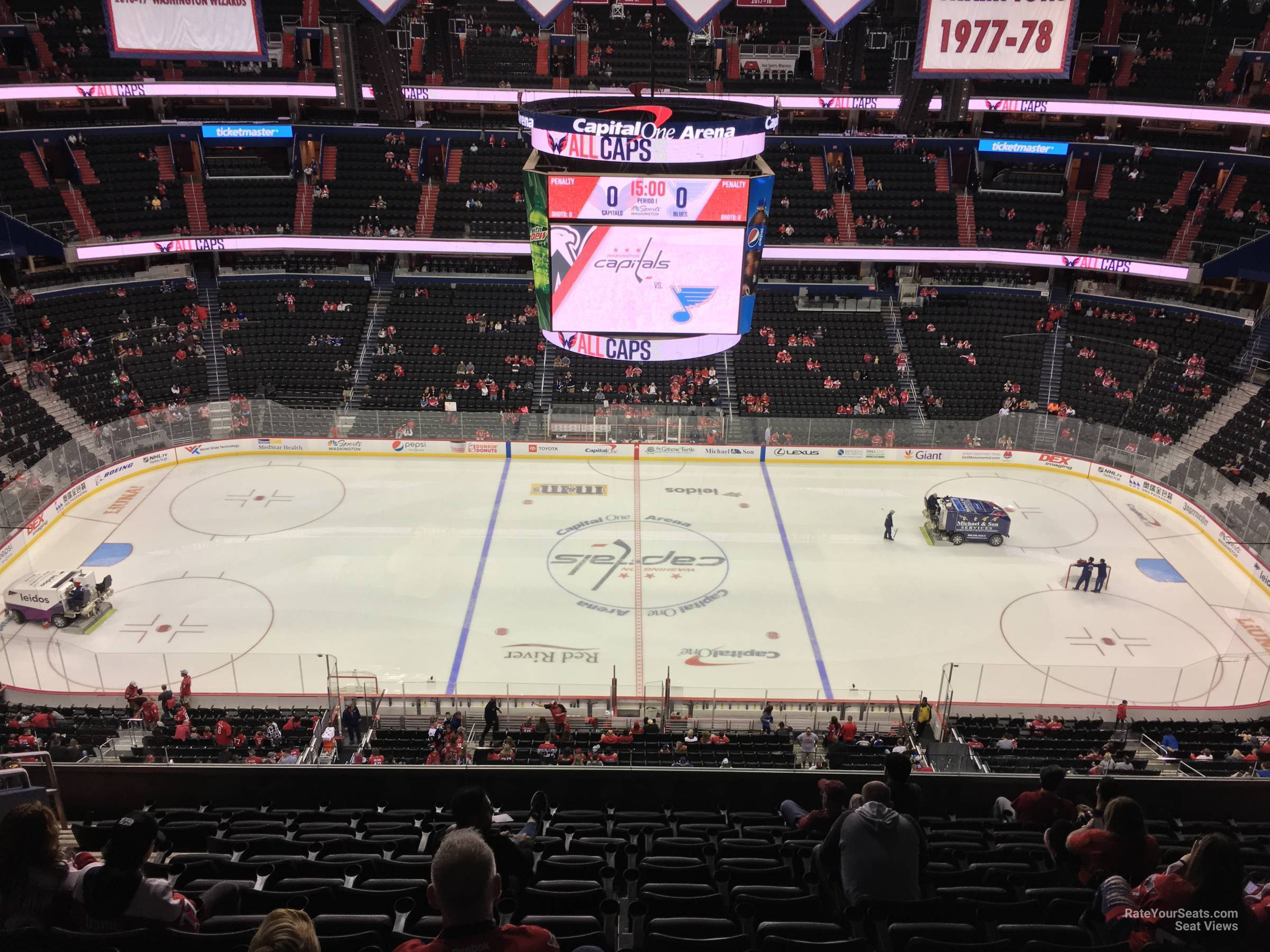 Washington Capitals Seat View for Capital One Arena Section 400, Row M