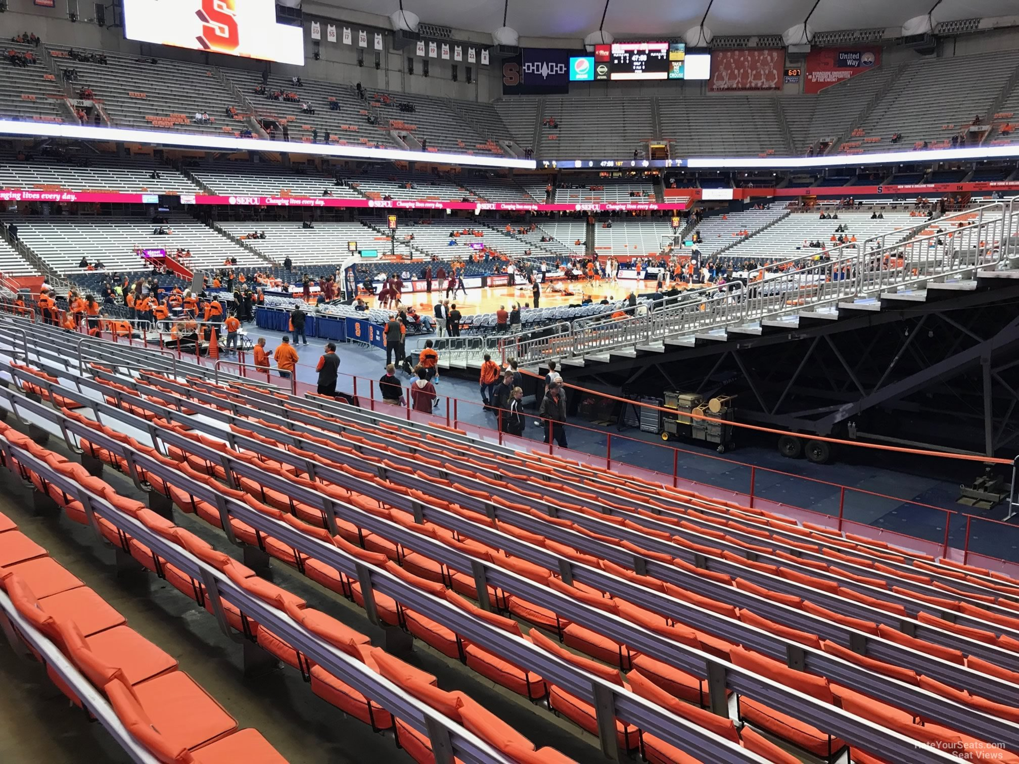 Syracuse Orange Seat View for Carrier Dome Section 101, Row M