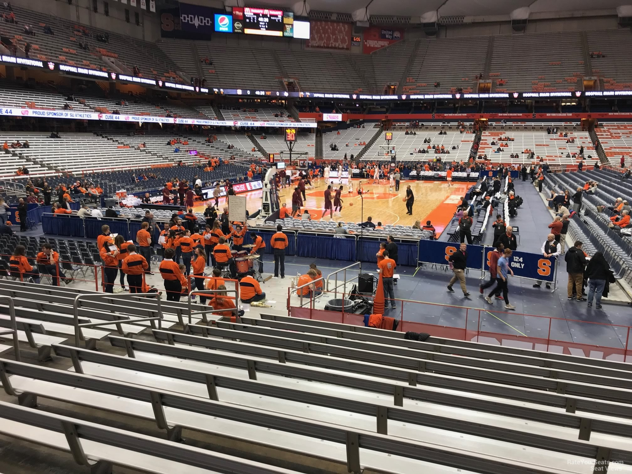 Carrier Dome Section 103 Syracuse Basketball Rateyourseats Com