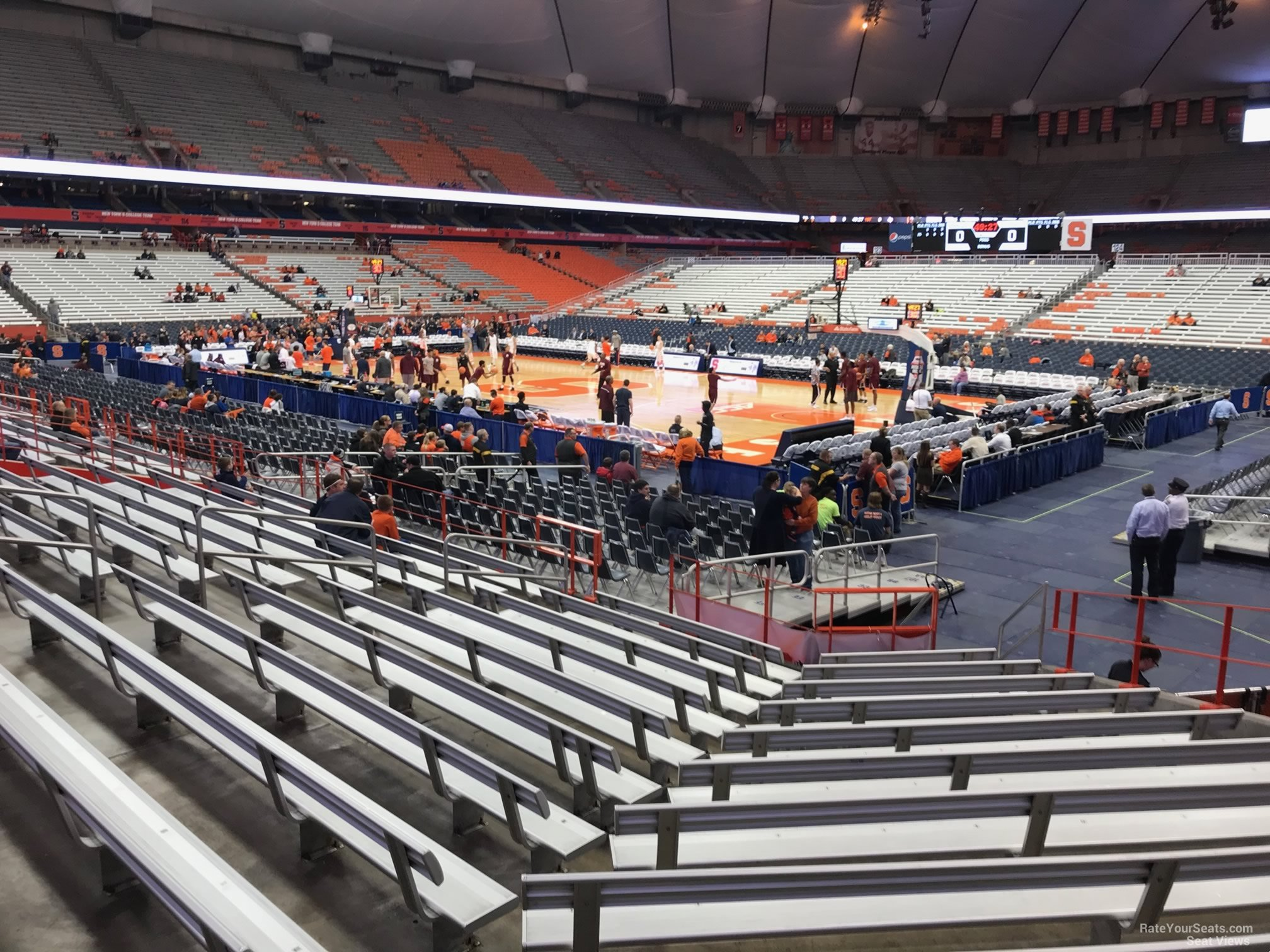 Syracuse Orange Seat View for Carrier Dome Section 106, Row M