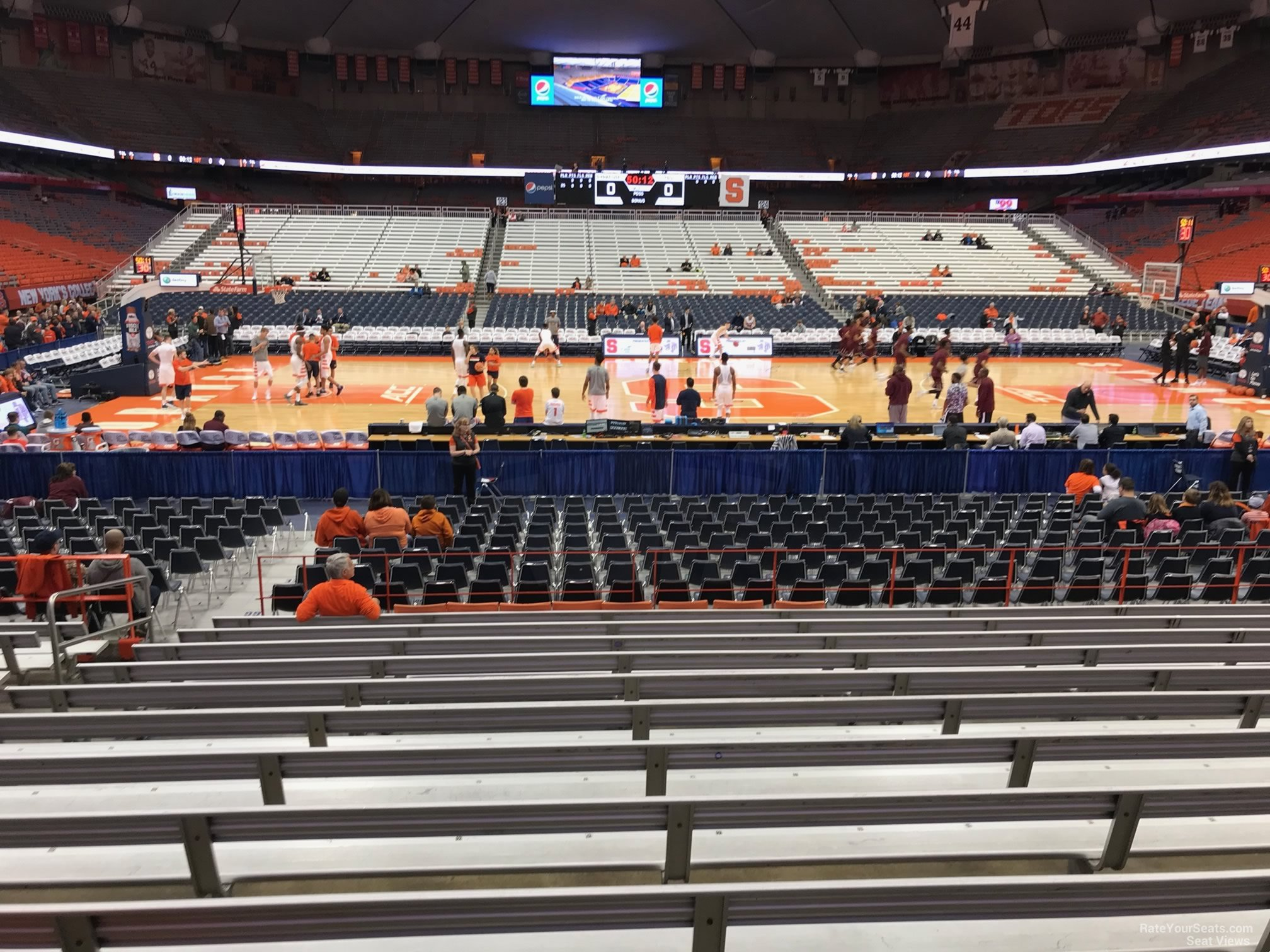 Carrier dome section 109 syracuse basketball rateyourseats com