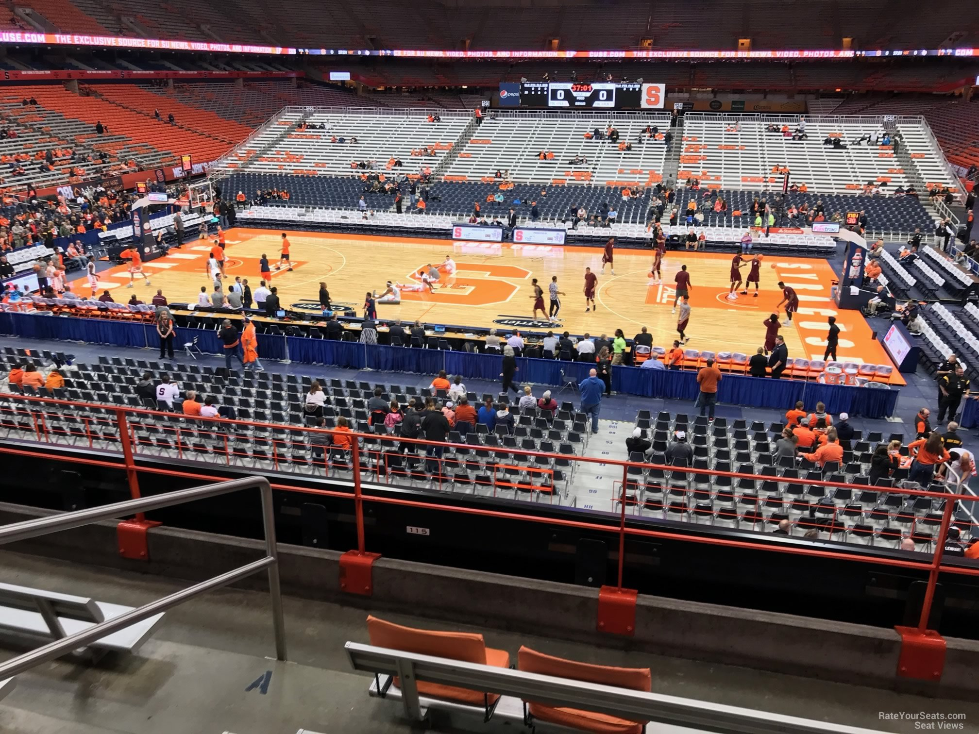 Syracuse Orange Seat View for Carrier Dome Section 211, Row F
