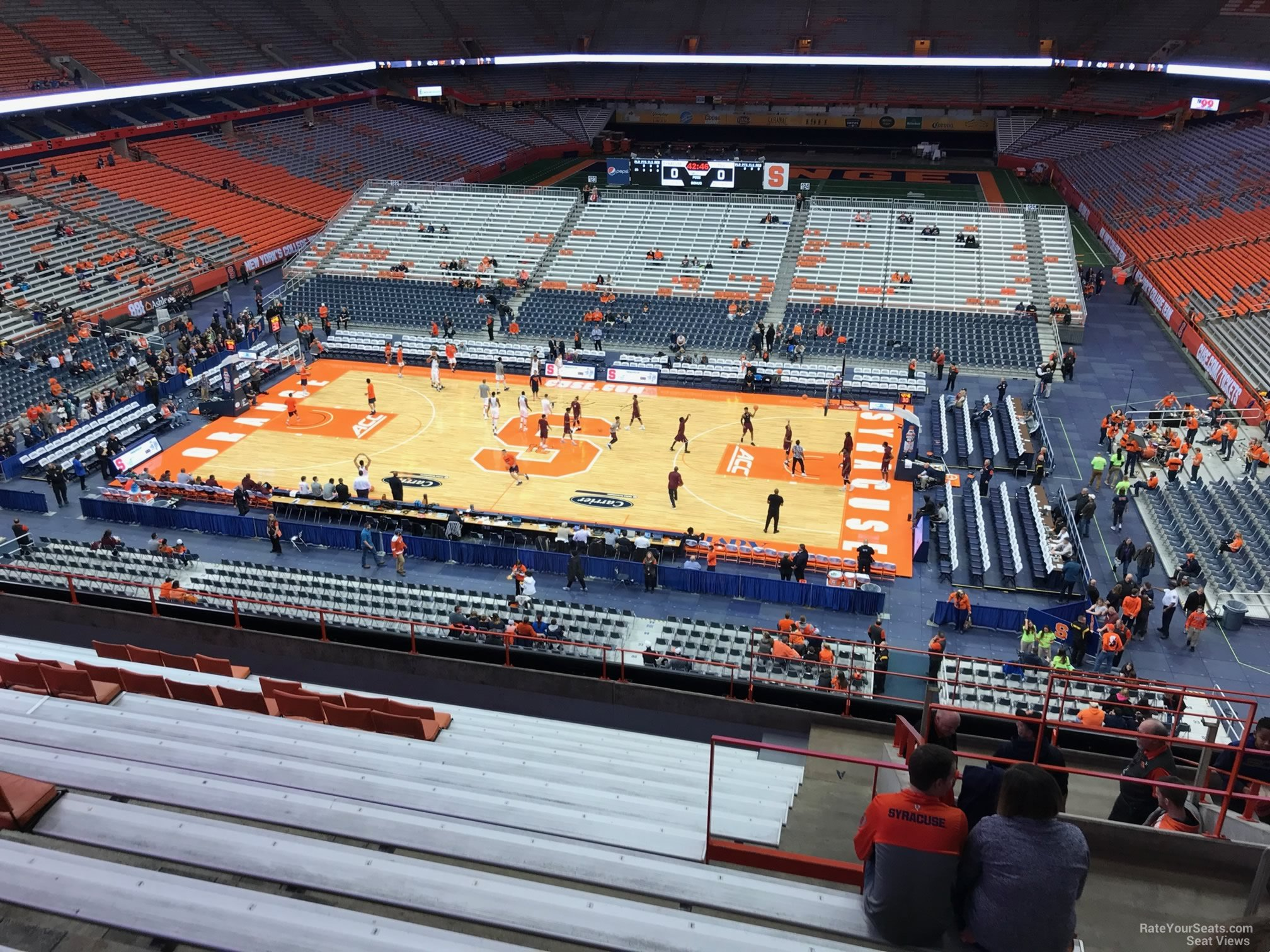 Carrier Dome Section 309 Syracuse Basketball Rateyourseatscom