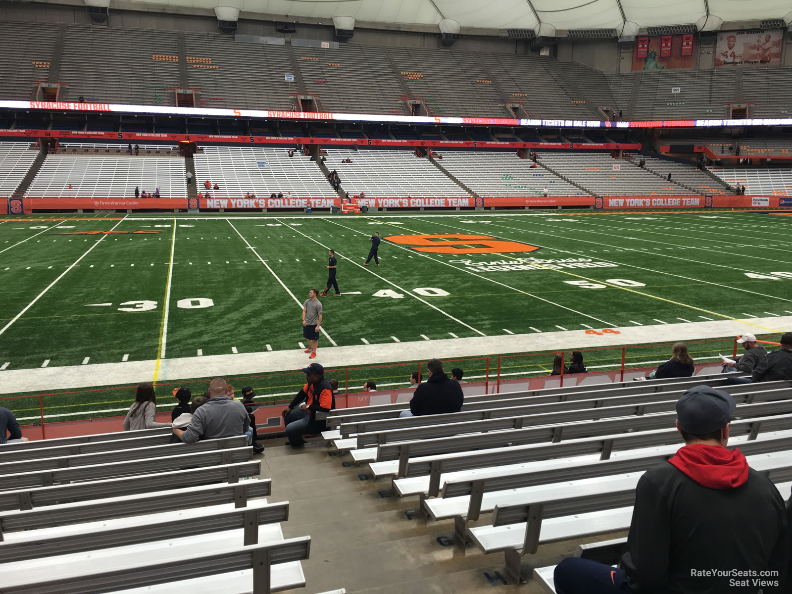 Syracuse Orange Seat View for Carrier Dome Section 102, Row M