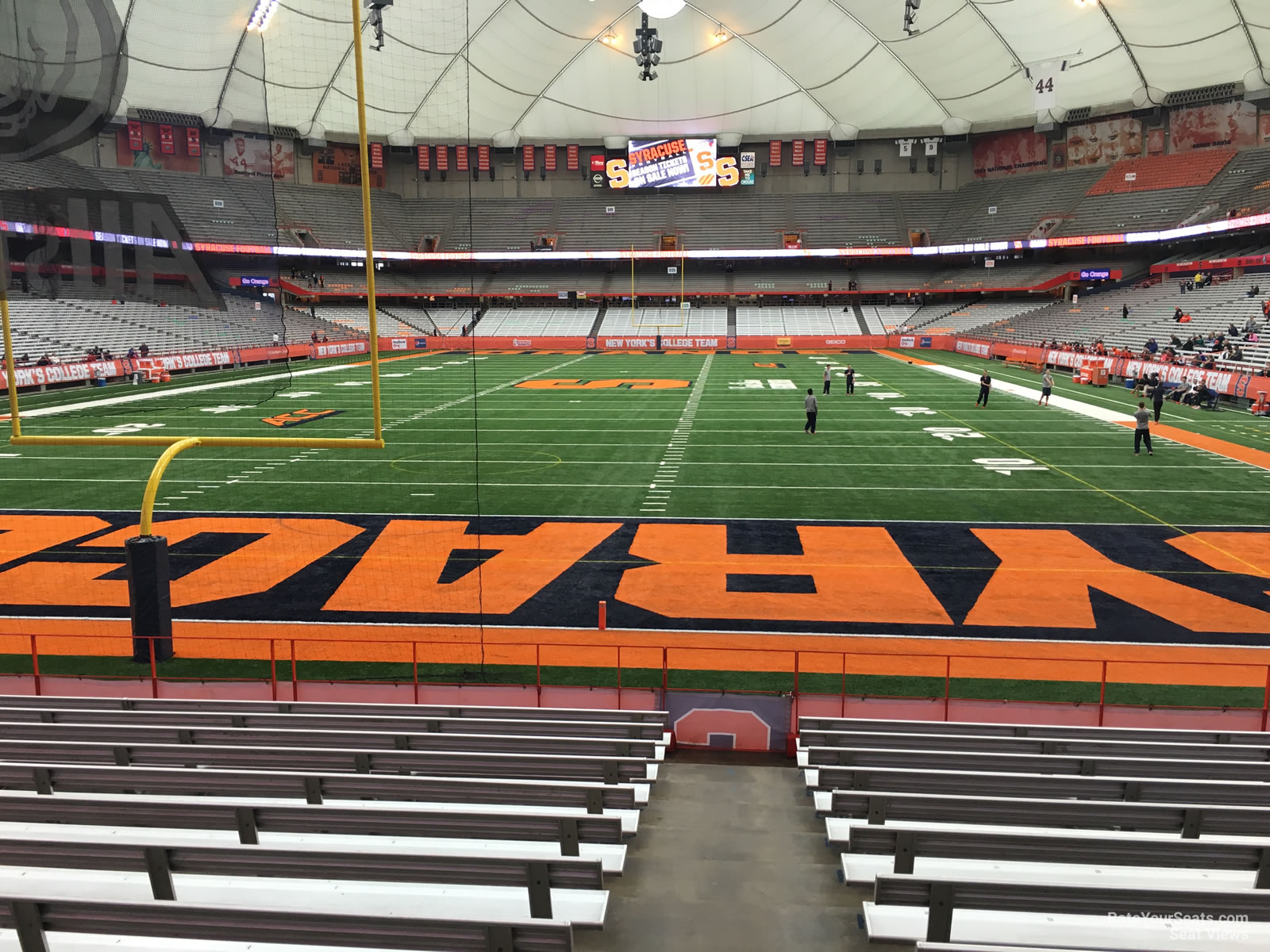 Syracuse Orange Seat View for Carrier Dome Section 108, Row M