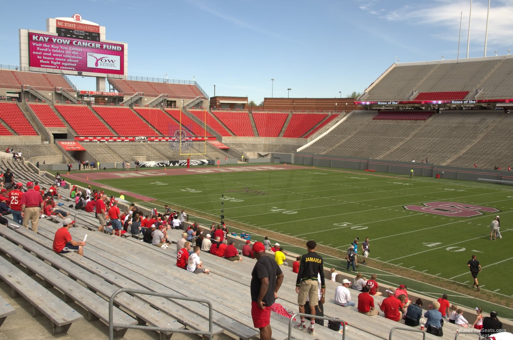 Seat View for Carter Finley Stadium Section 19
