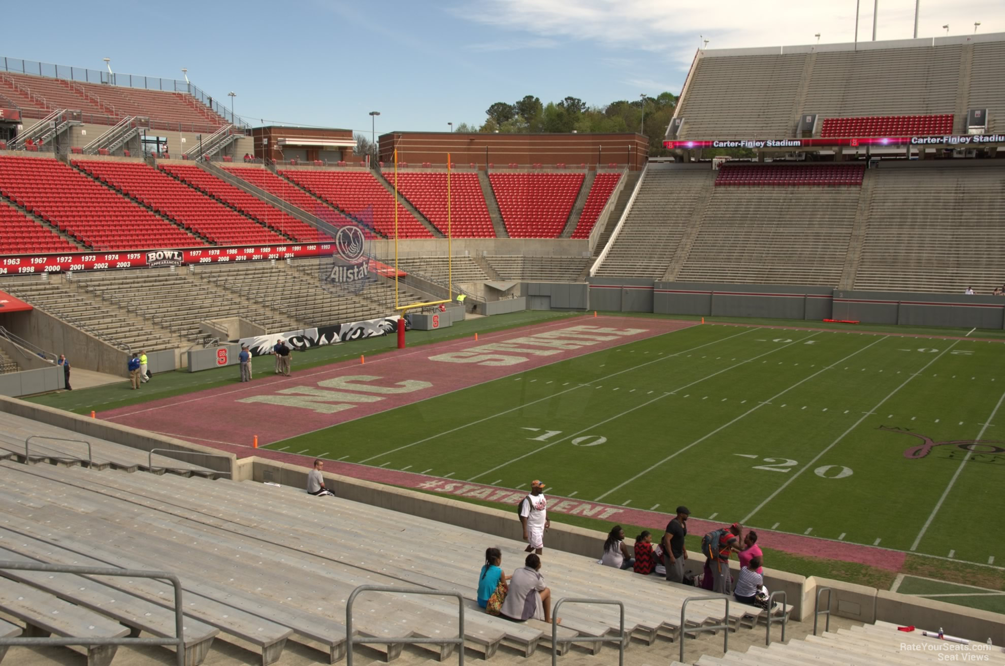 Carter finley stadium section 22 rateyourseats com