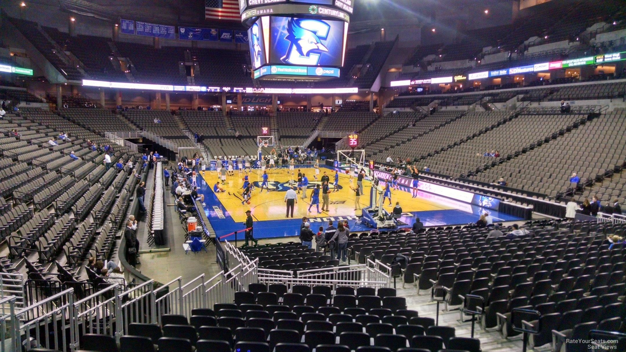 Centurylink Center Omaha >> Chi Health Center Omaha Section 114 Creighton Basketball