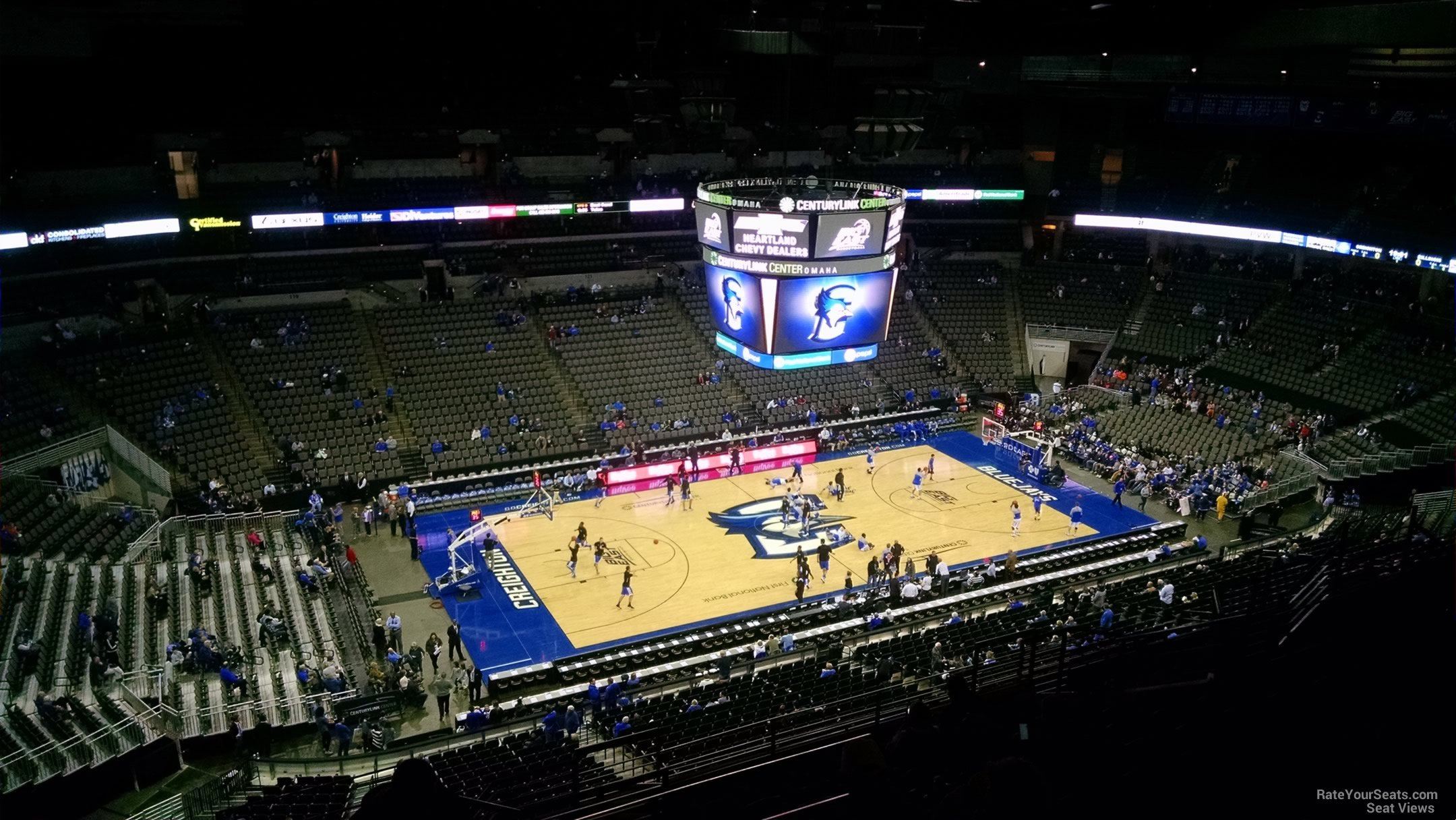 Centurylink center section 208 creighton basketball