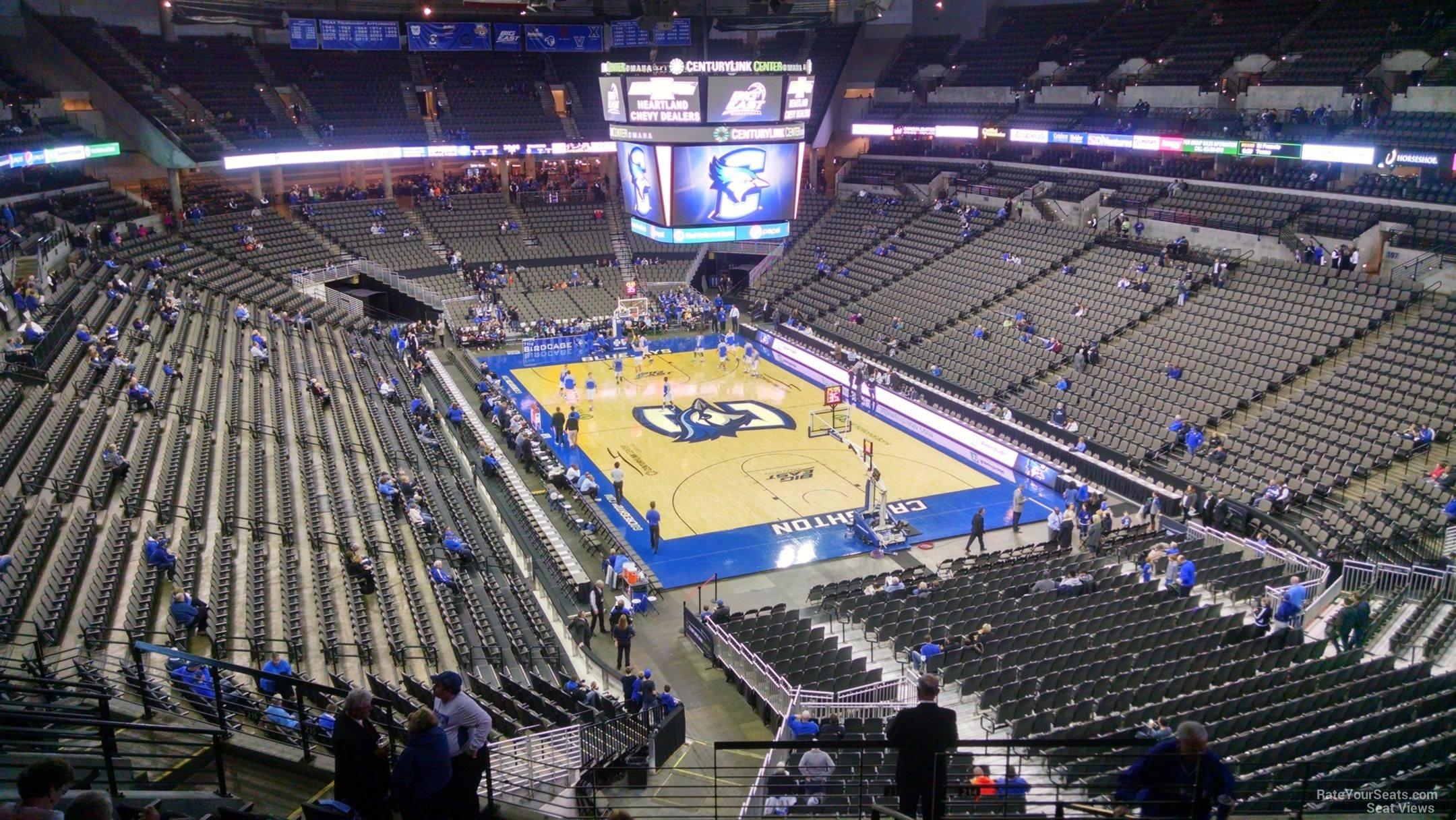 Centurylink Center Omaha >> Chi Health Center Omaha Section 215 Creighton Basketball