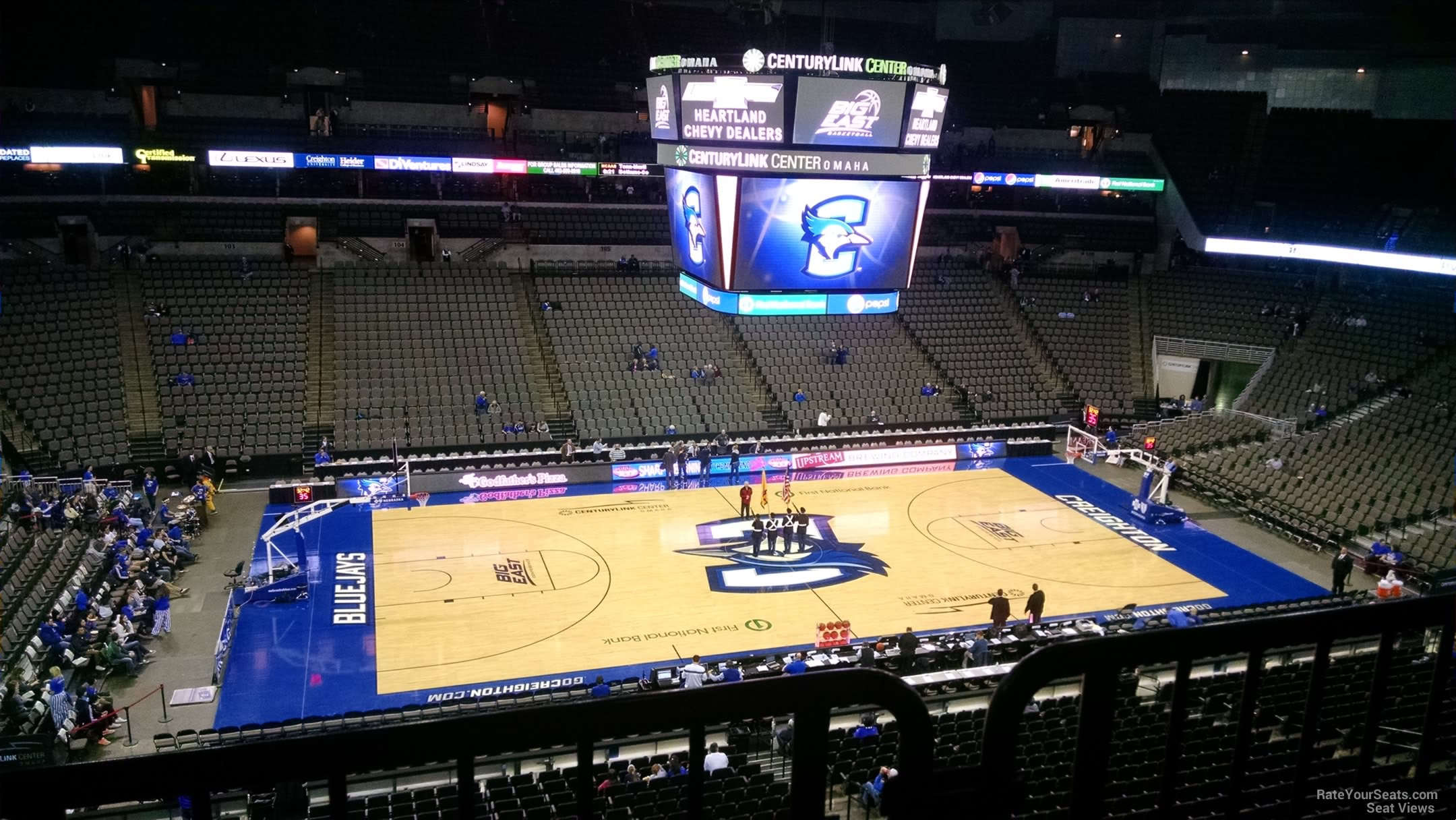 Centurylink center section 222 creighton basketball