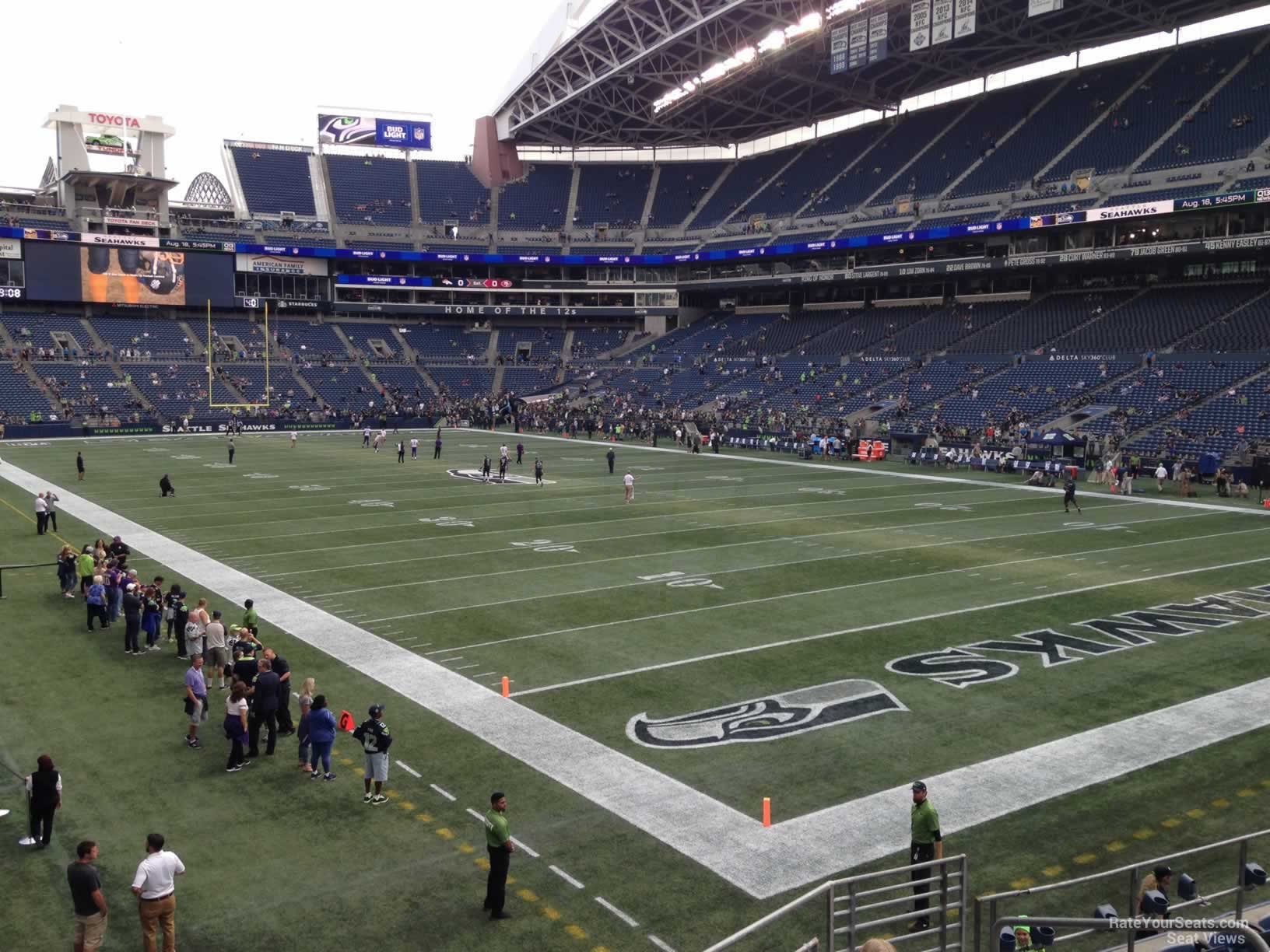 Seattle Seahawks Seat View for CenturyLink Field Section 100, Row CC