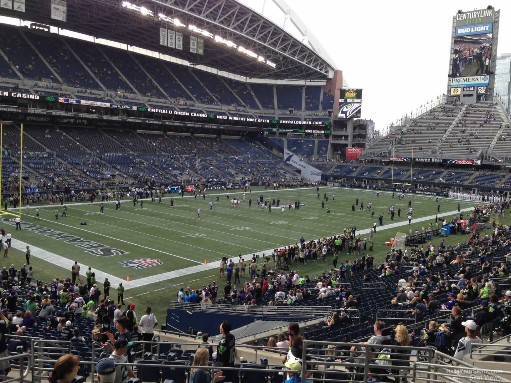 Seattle Seahawks Seat View for CenturyLink Field Section 116