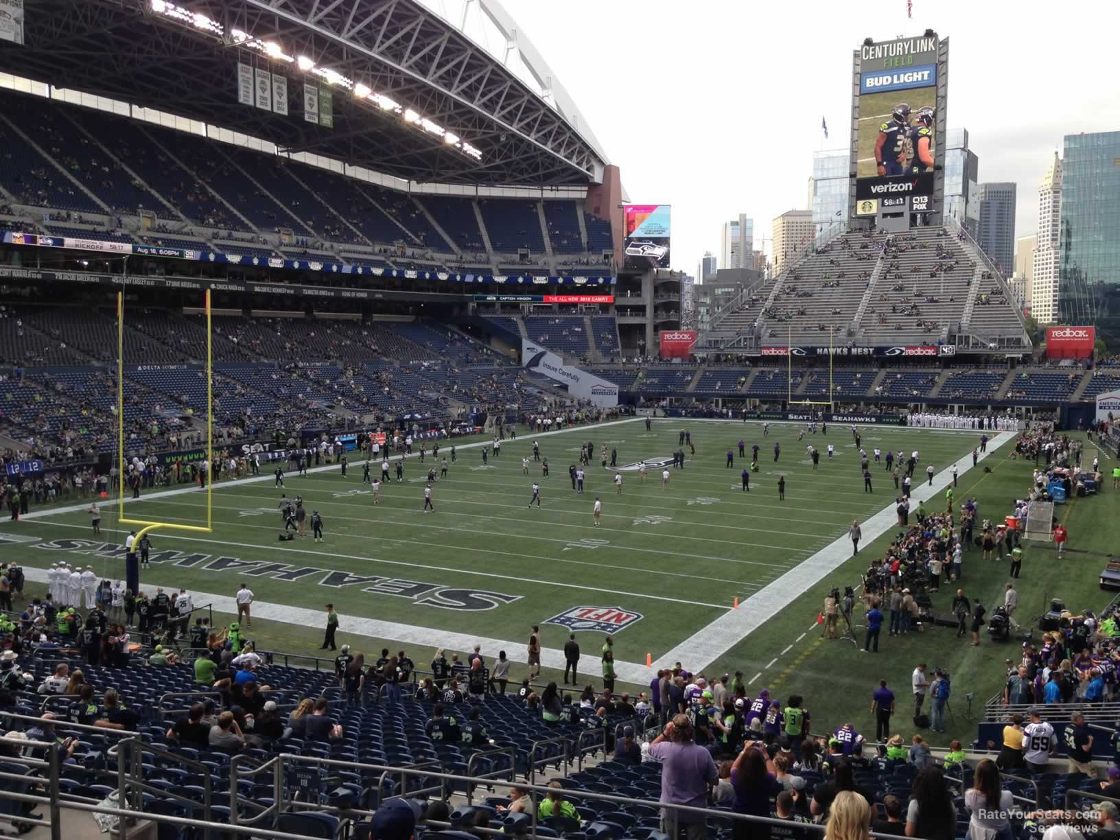 Seattle Seahawks Seat View for CenturyLink Field Section 118