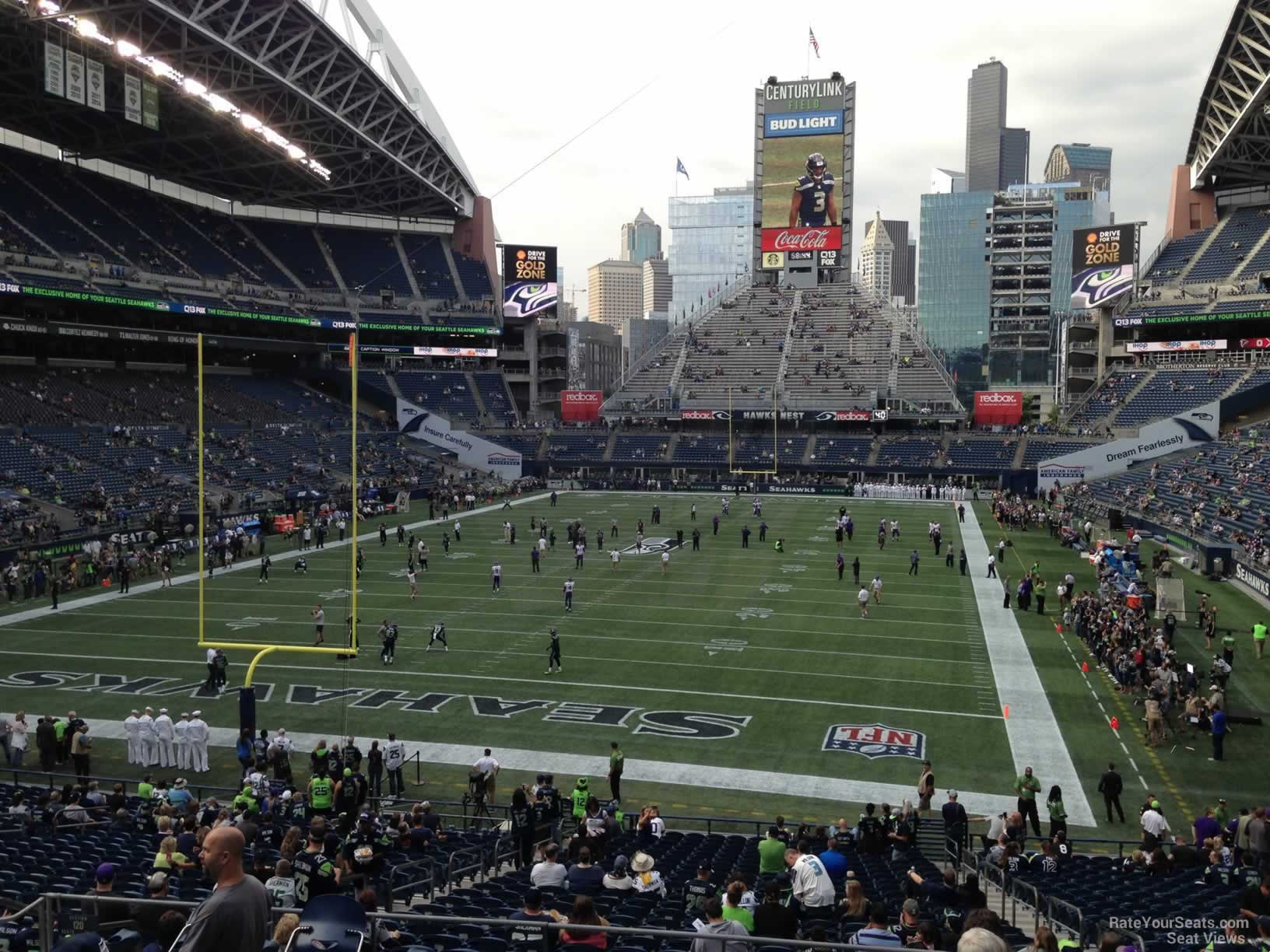 Seattle Seahawks Seat View for CenturyLink Field Section 120, Row FF