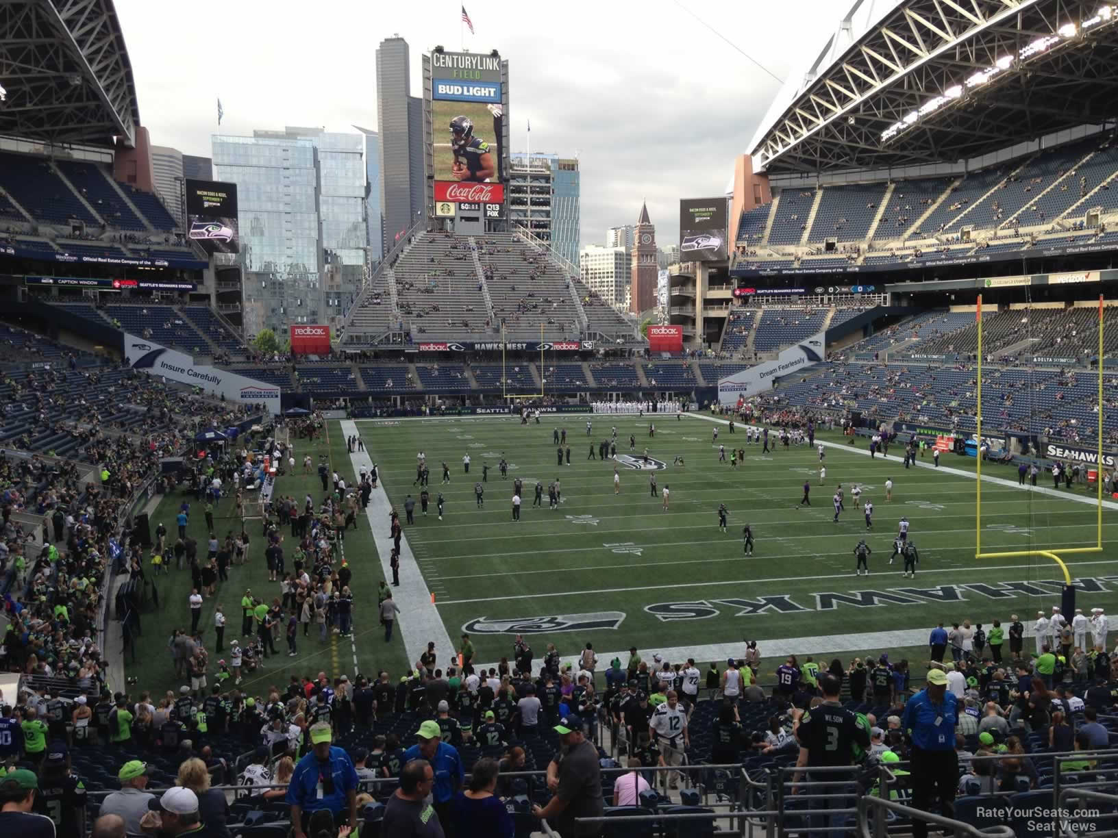 Seattle Seahawks Seat View for CenturyLink Field Section 125, Row FF