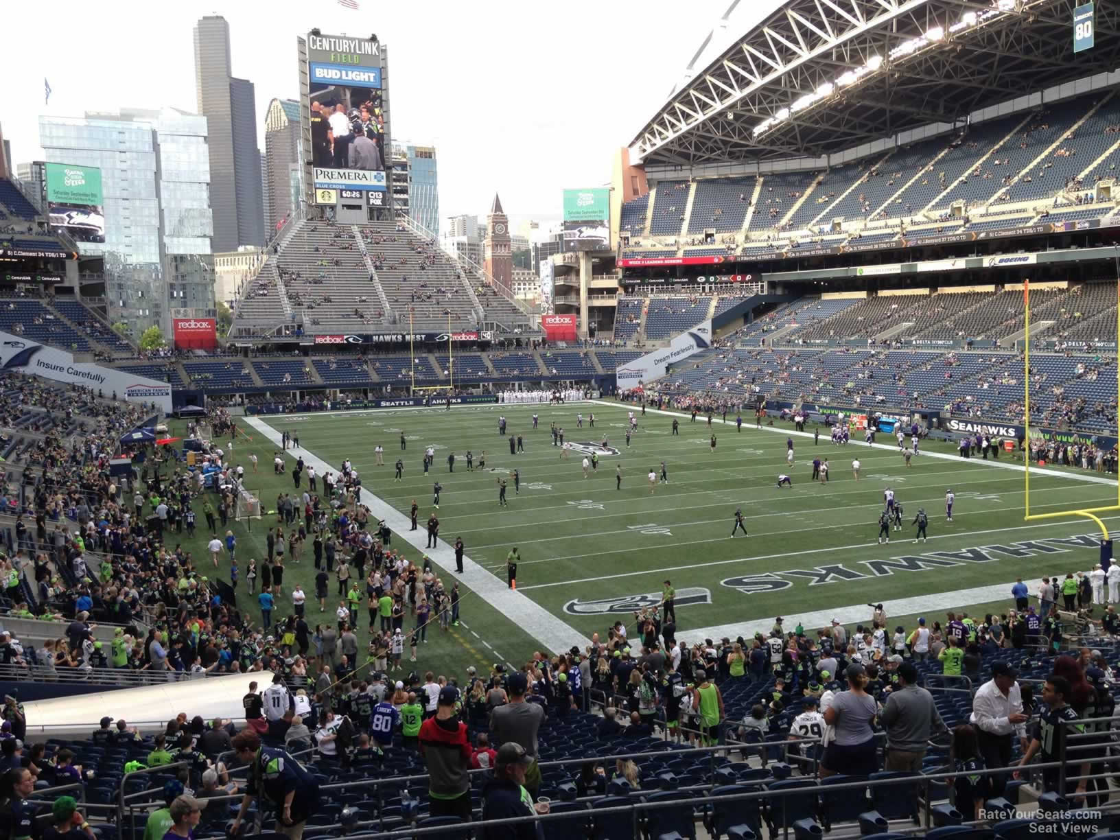 Seattle Seahawks Seat View for CenturyLink Field Section 126, Row FF