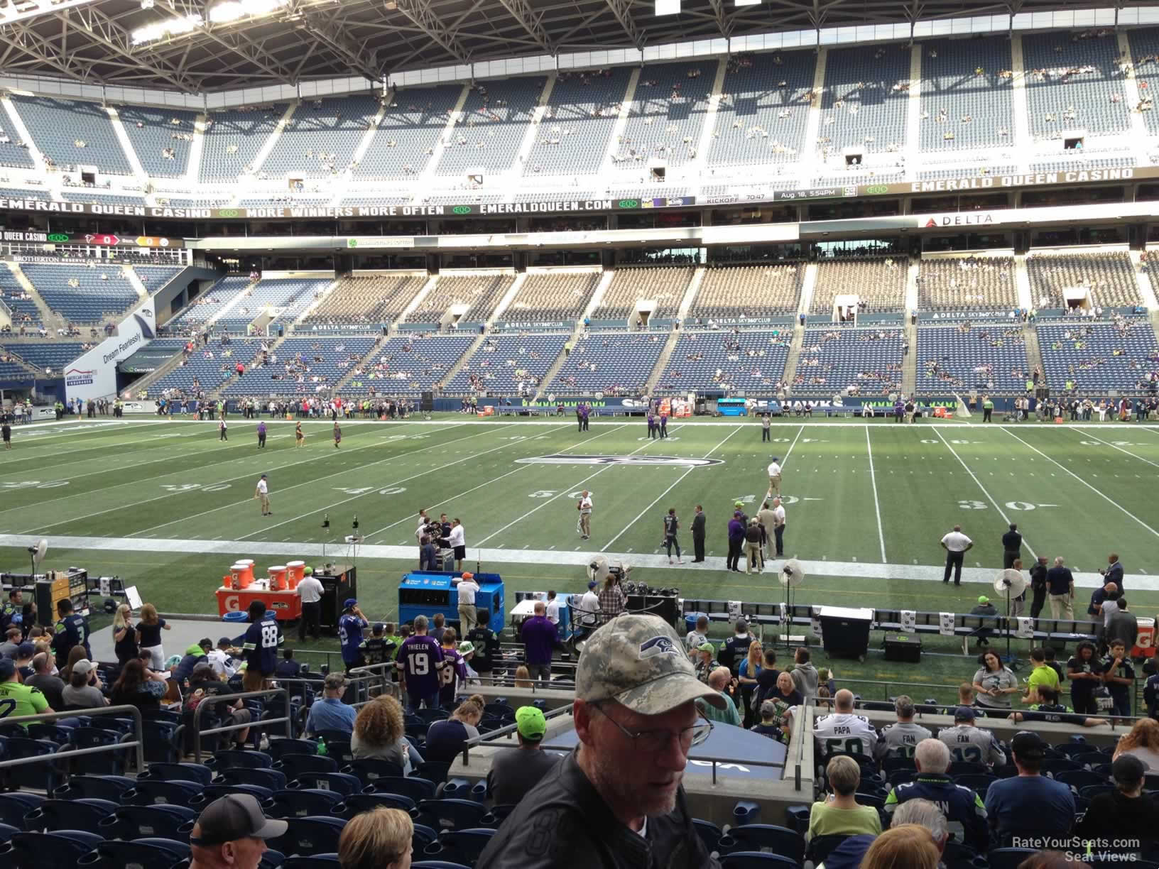 Seattle Seahawks Seat View for CenturyLink Field Section 134, Row Z