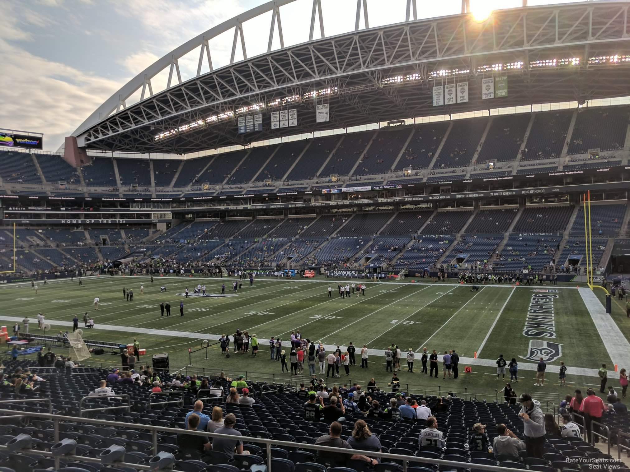 Seattle Seahawks Seat View for CenturyLink Field Section 205, Row B
