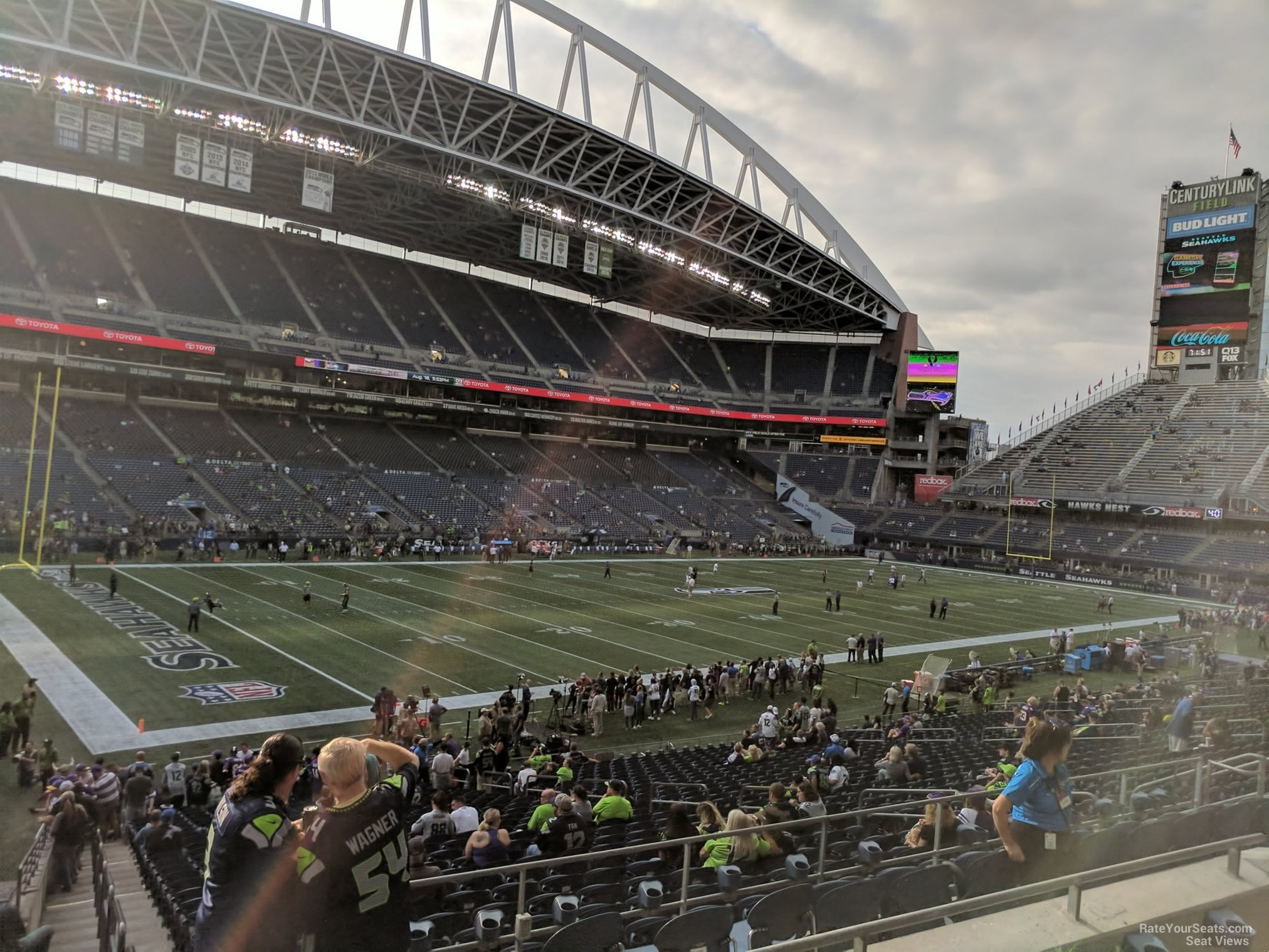 Seattle Seahawks Seat View for CenturyLink Field Section 214, Row B