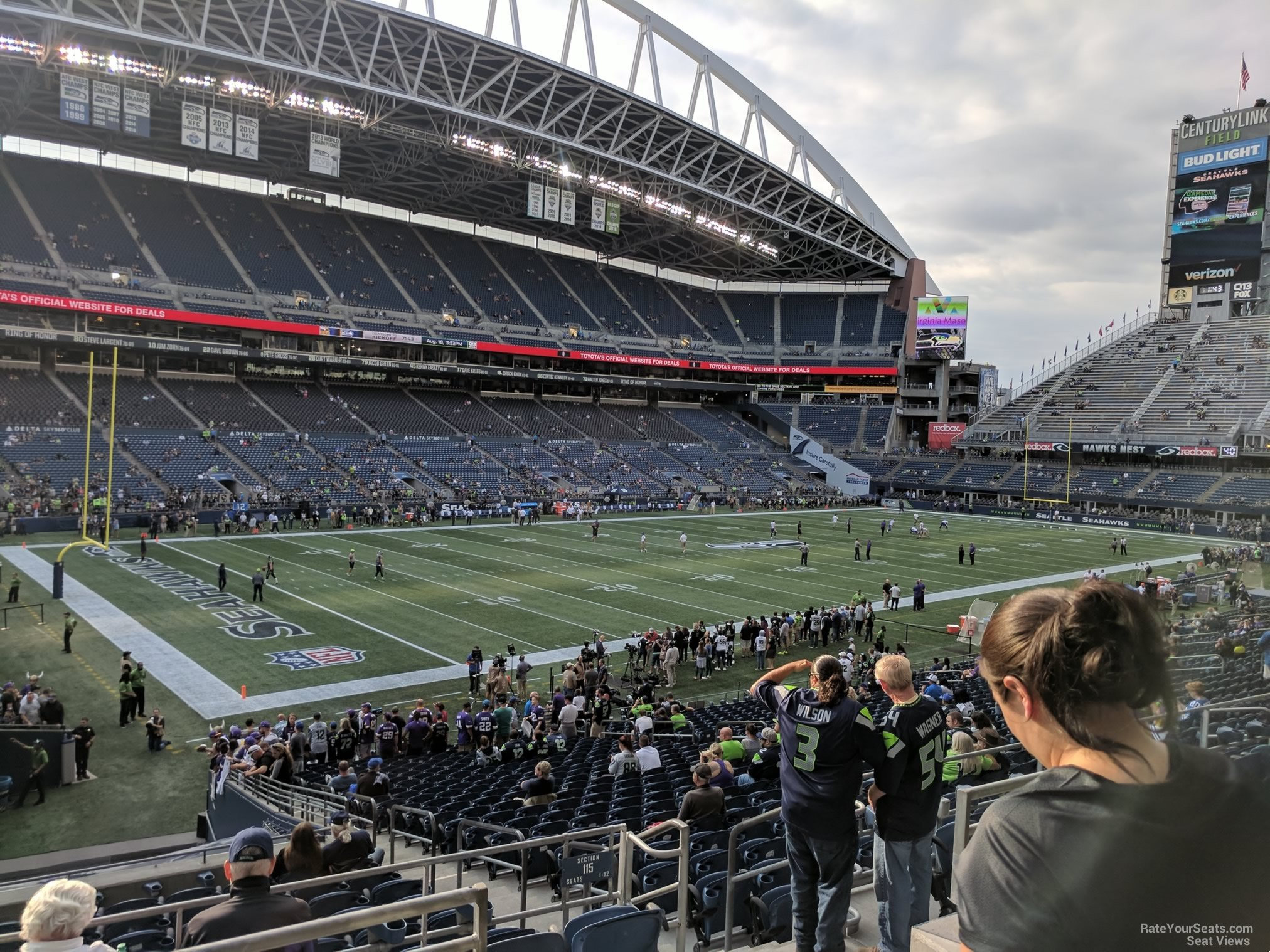 Seattle Seahawks Seat View for CenturyLink Field Section 215, Row B
