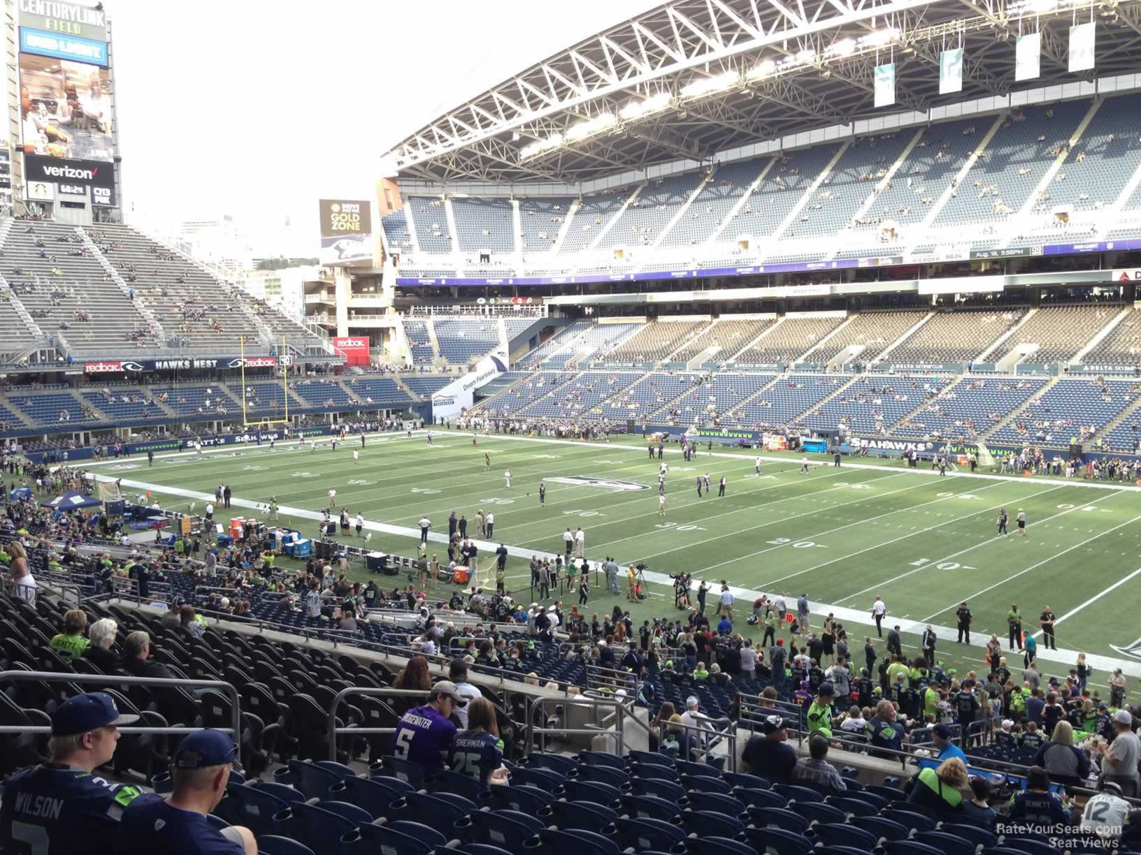 Seattle Seahawks Seat View for CenturyLink Field Section 230, Row P