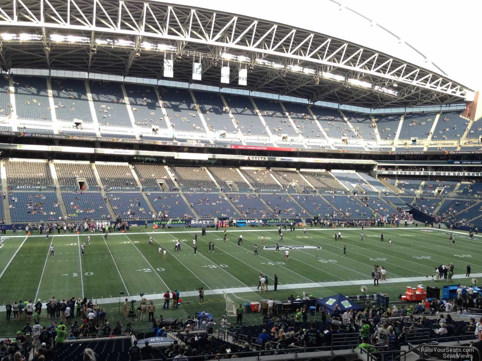 Seattle Seahawks Seat View for CenturyLink Field Section 238, Row P