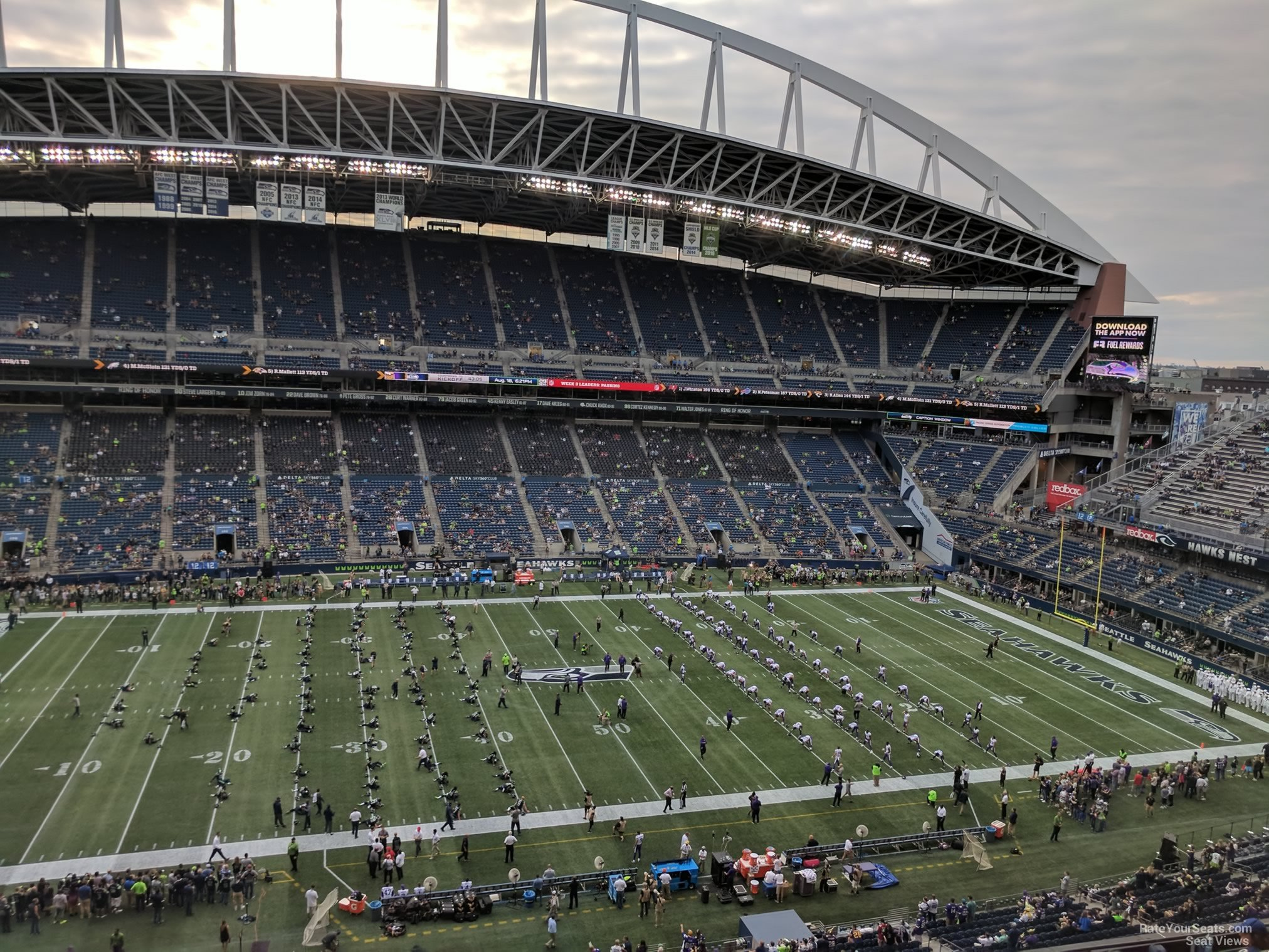 Seattle Seahawks Seat View for CenturyLink Field Section 311