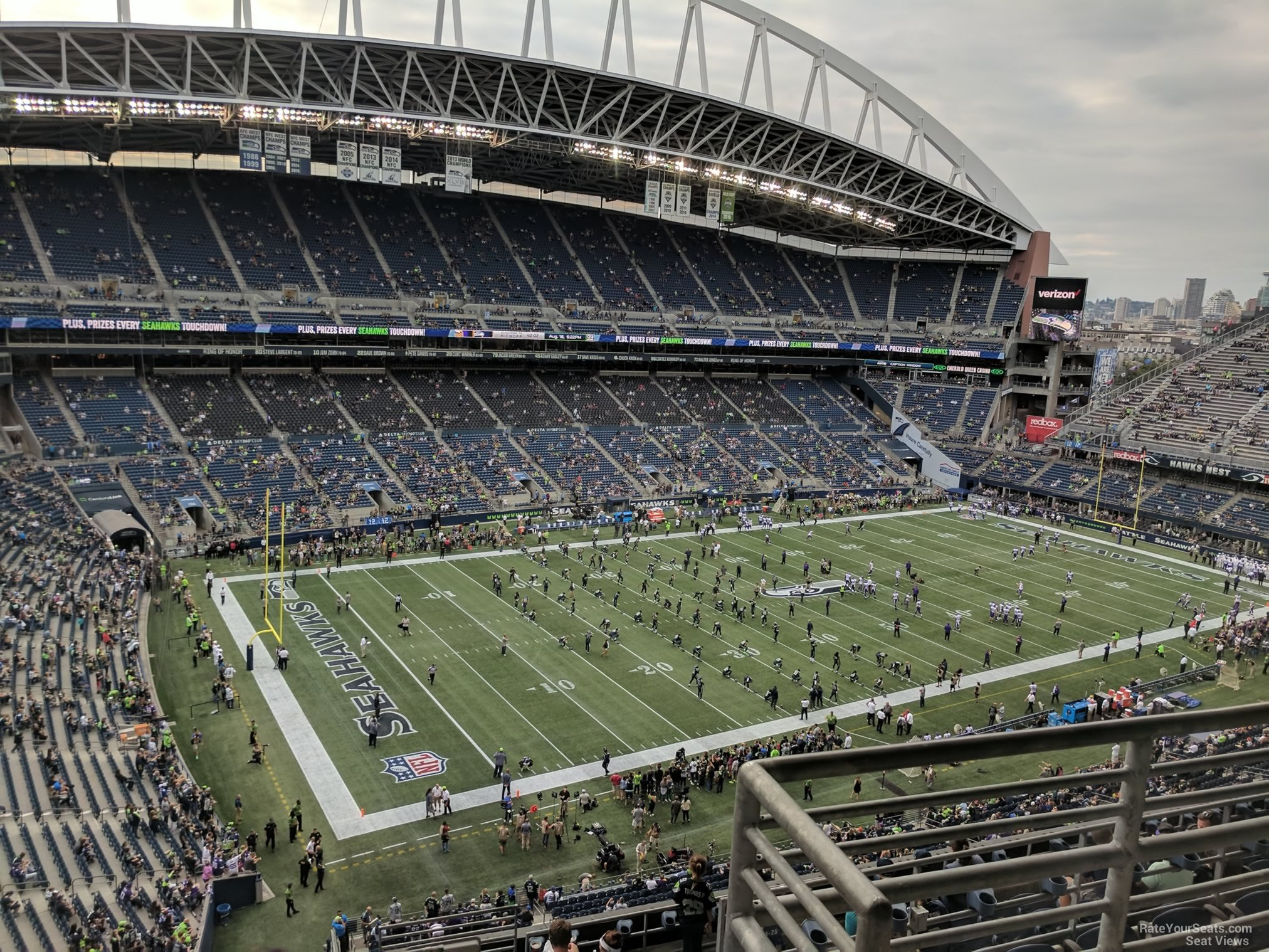 Seattle Seahawks Seat View for CenturyLink Field Section 315