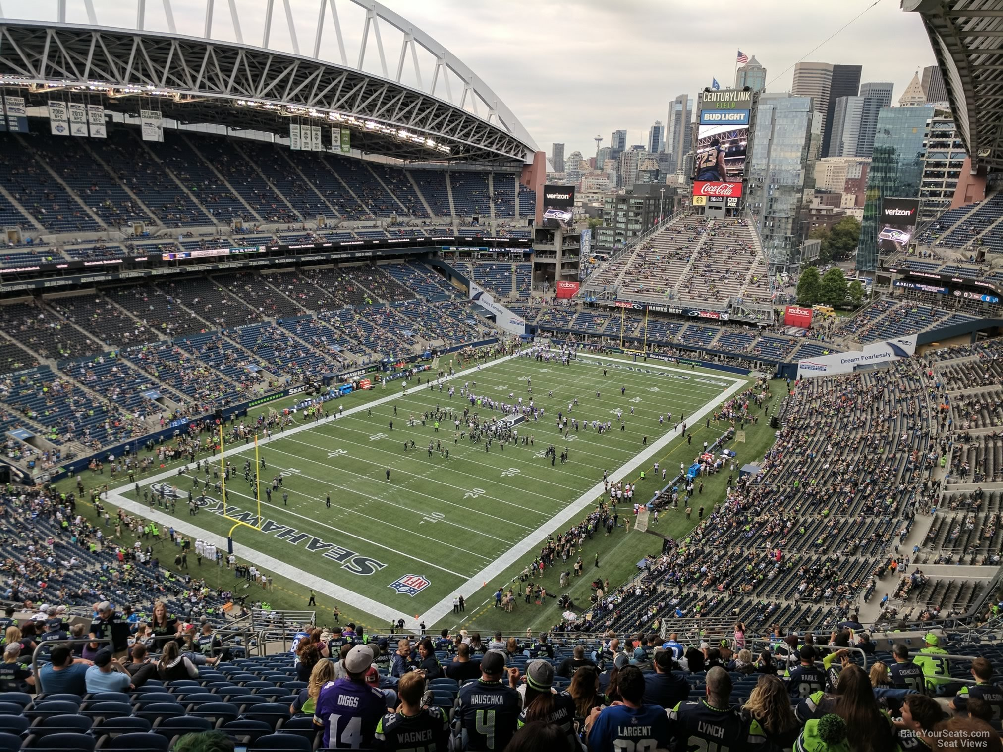 Seattle Seahawks Seat View for CenturyLink Field Section 317, Row EE