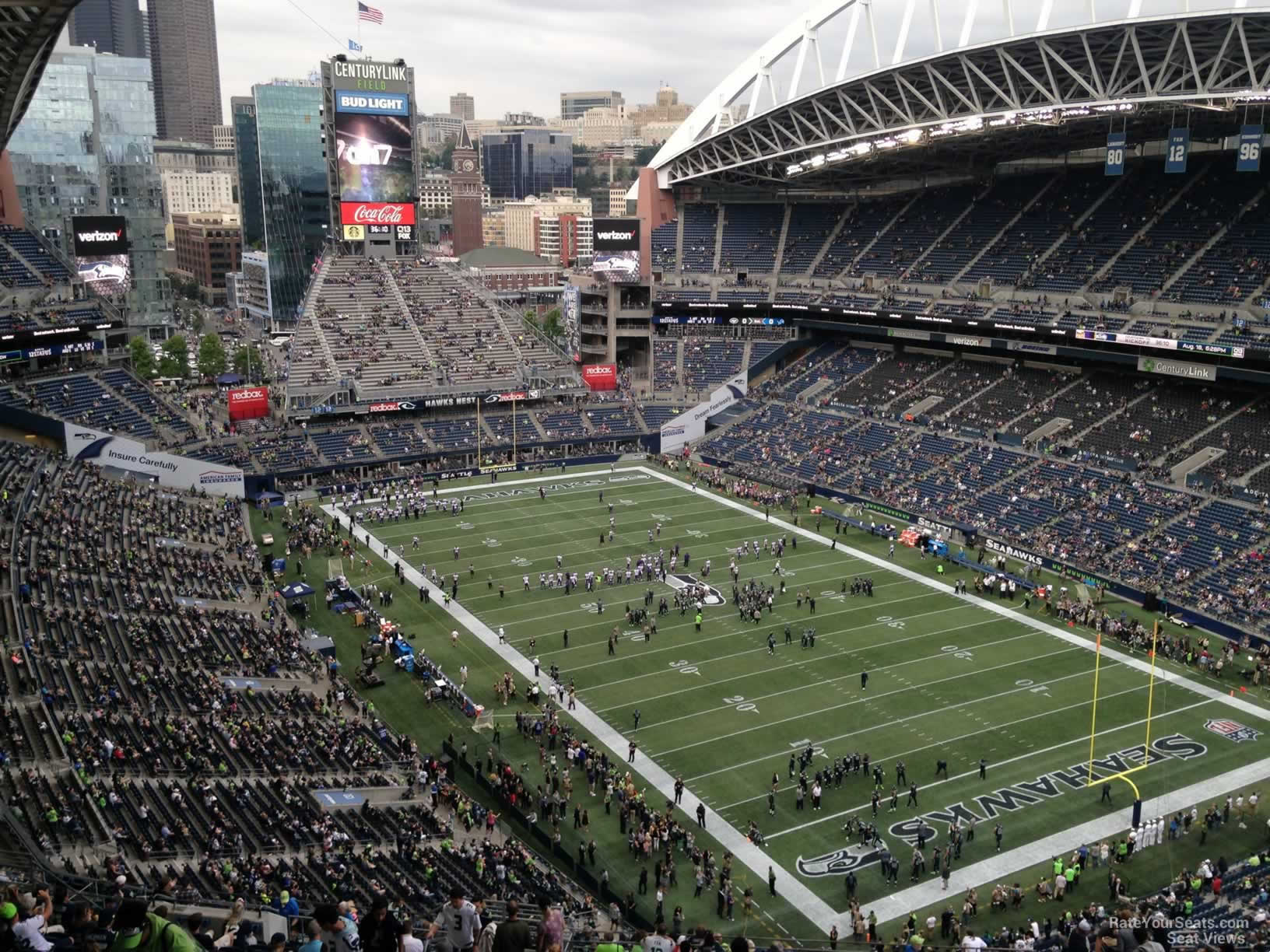 Seattle Seahawks Seat View for CenturyLink Field Section 327, Row EE