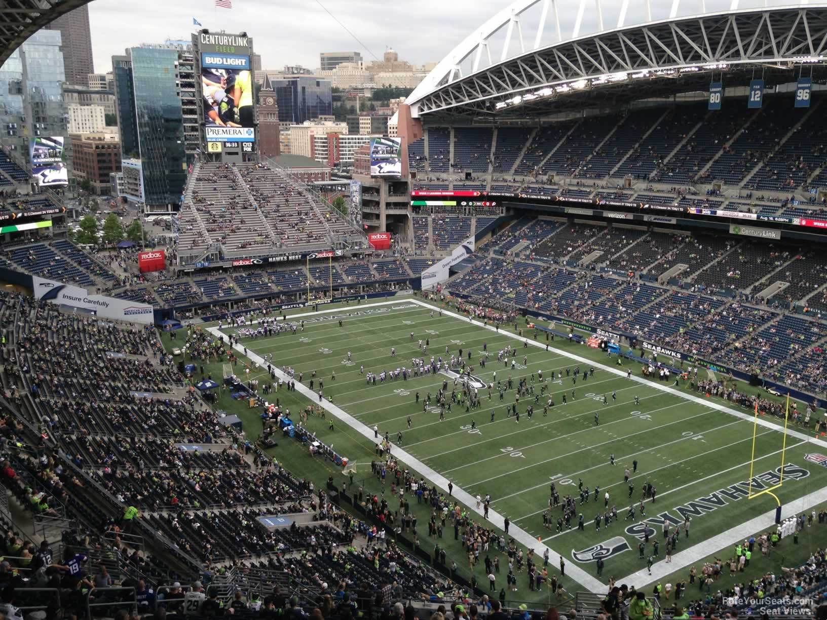 Seattle Seahawks Seat View for CenturyLink Field Section 328