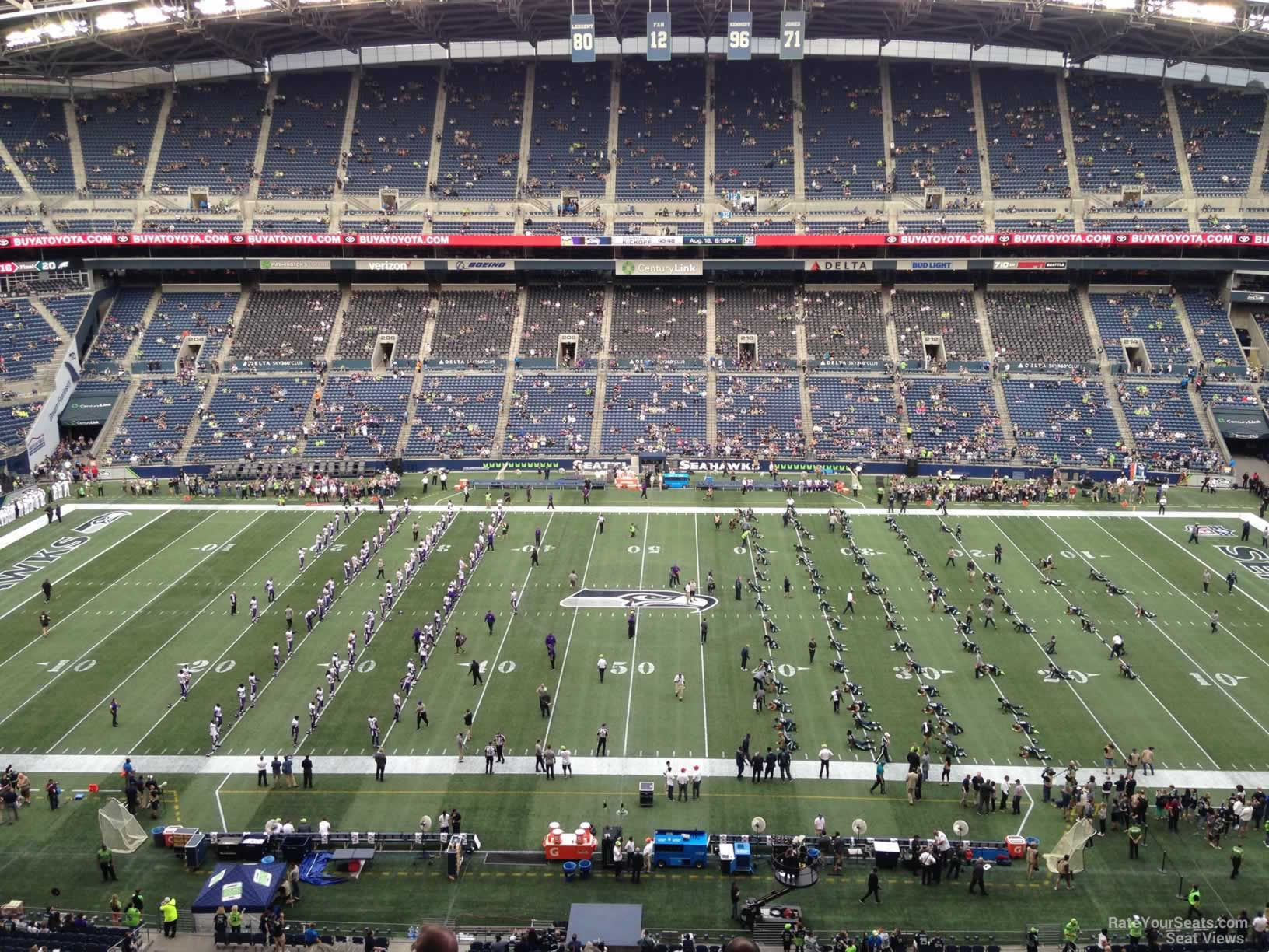 Seattle Seahawks Seat View For Centurylink Field Section 335 Row G