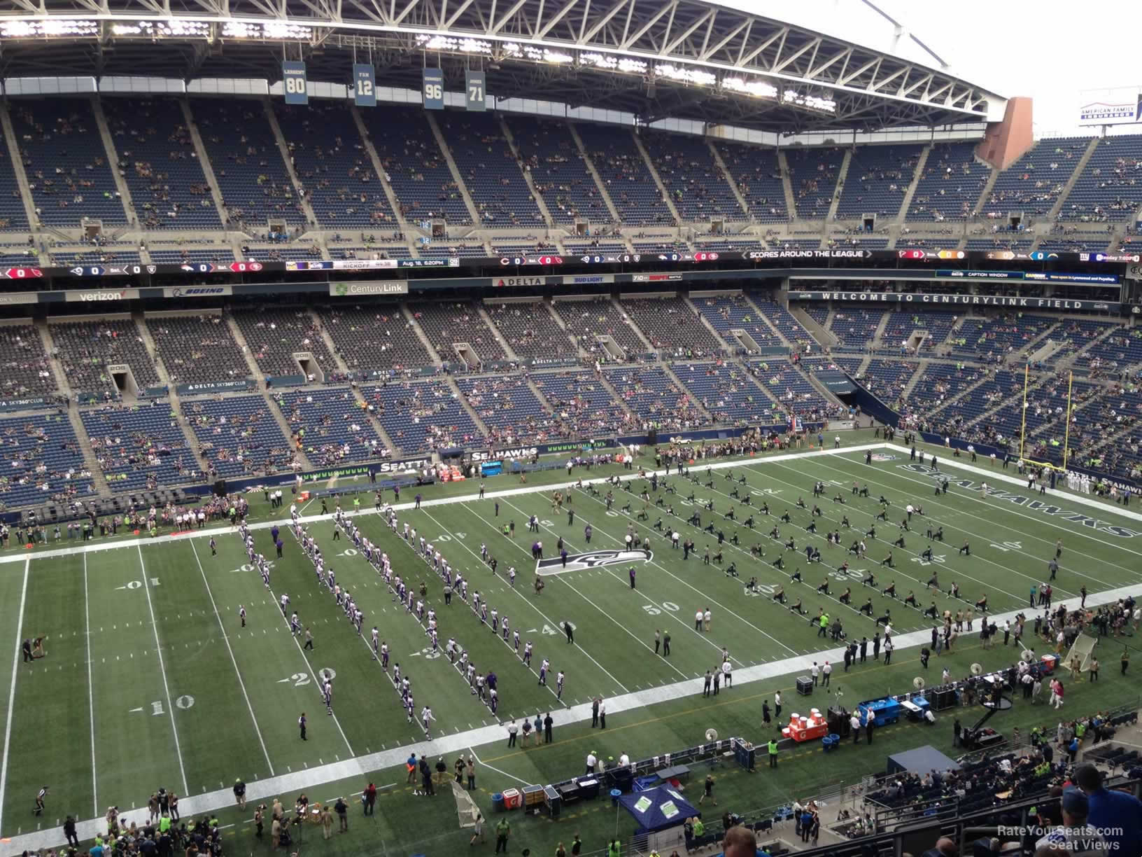Seattle Seahawks Seat View for CenturyLink Field Section 338, Row G