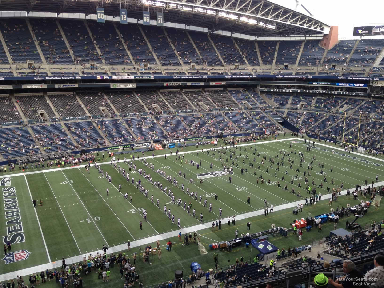 Seattle Seahawks Seat View for CenturyLink Field Section 339, Row G
